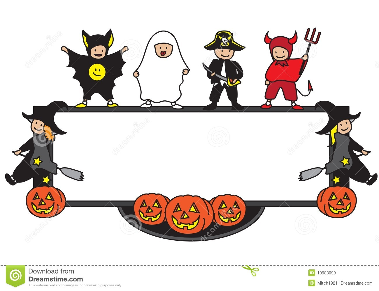 Halloween Frame Illustration 10983099 - Megapixl