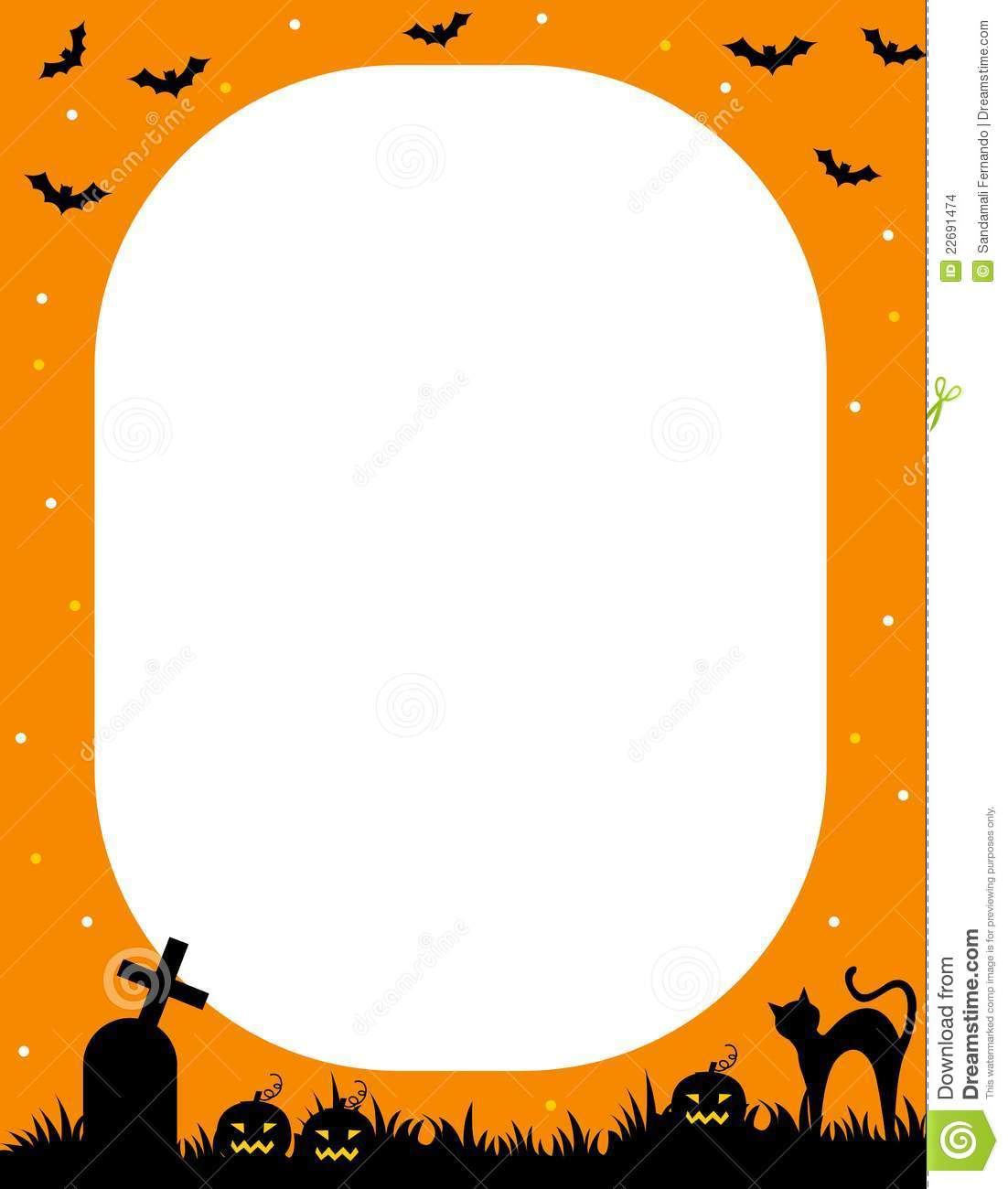 Castle Home Plans Halloween Frame Stock Images Image 22691474