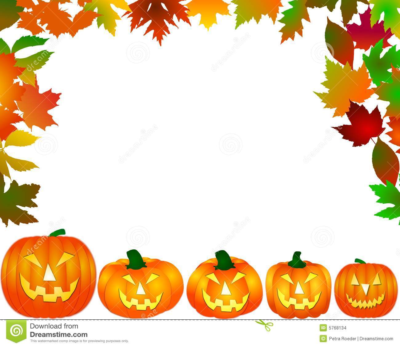 Halloween Frame Stock Images Image 5768134