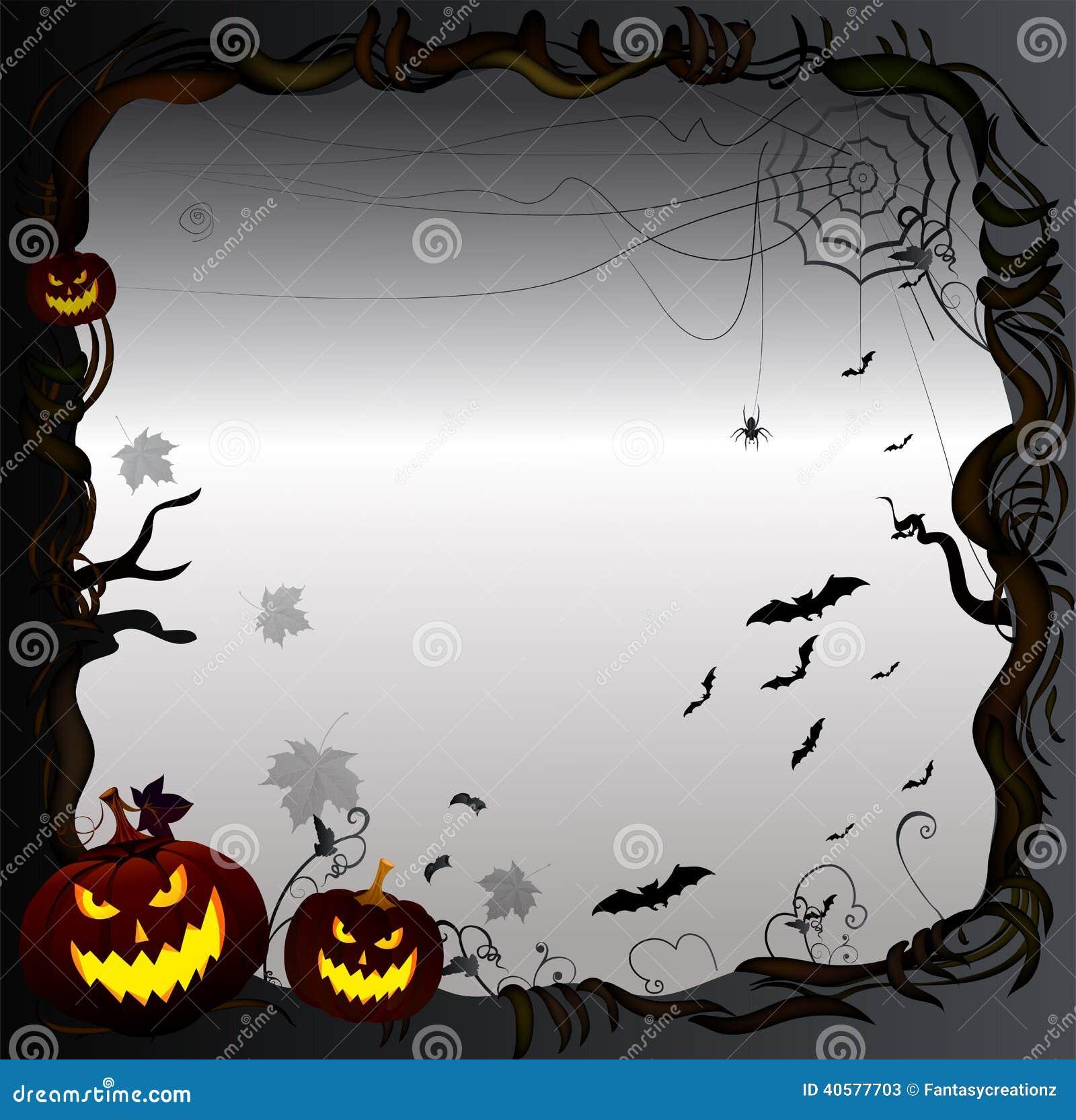 halloween frame background. stock vector - illustration of