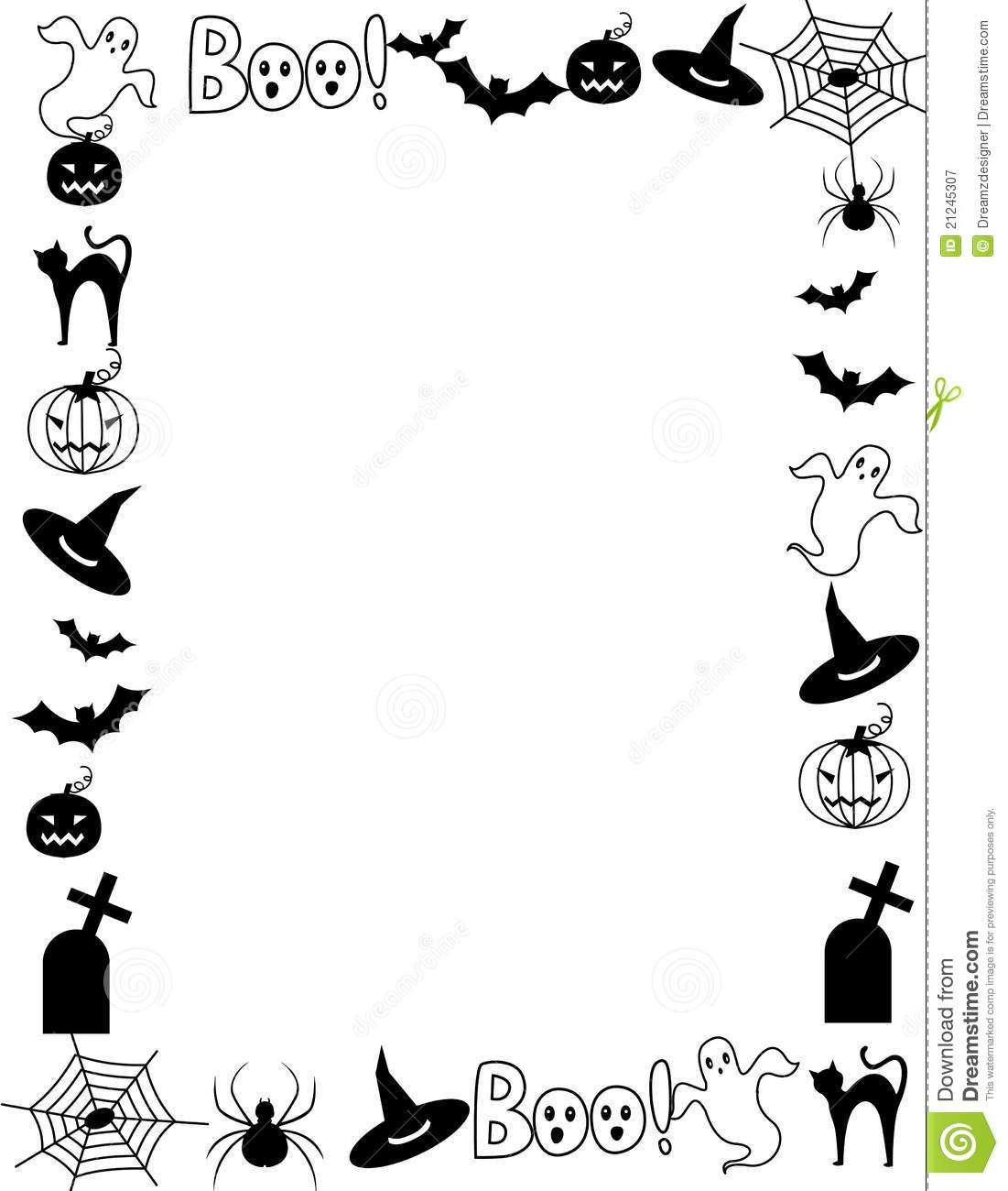 Royalty Free Stock Photography Halloween Frame Border Image21245307 on scary cemetery clip art