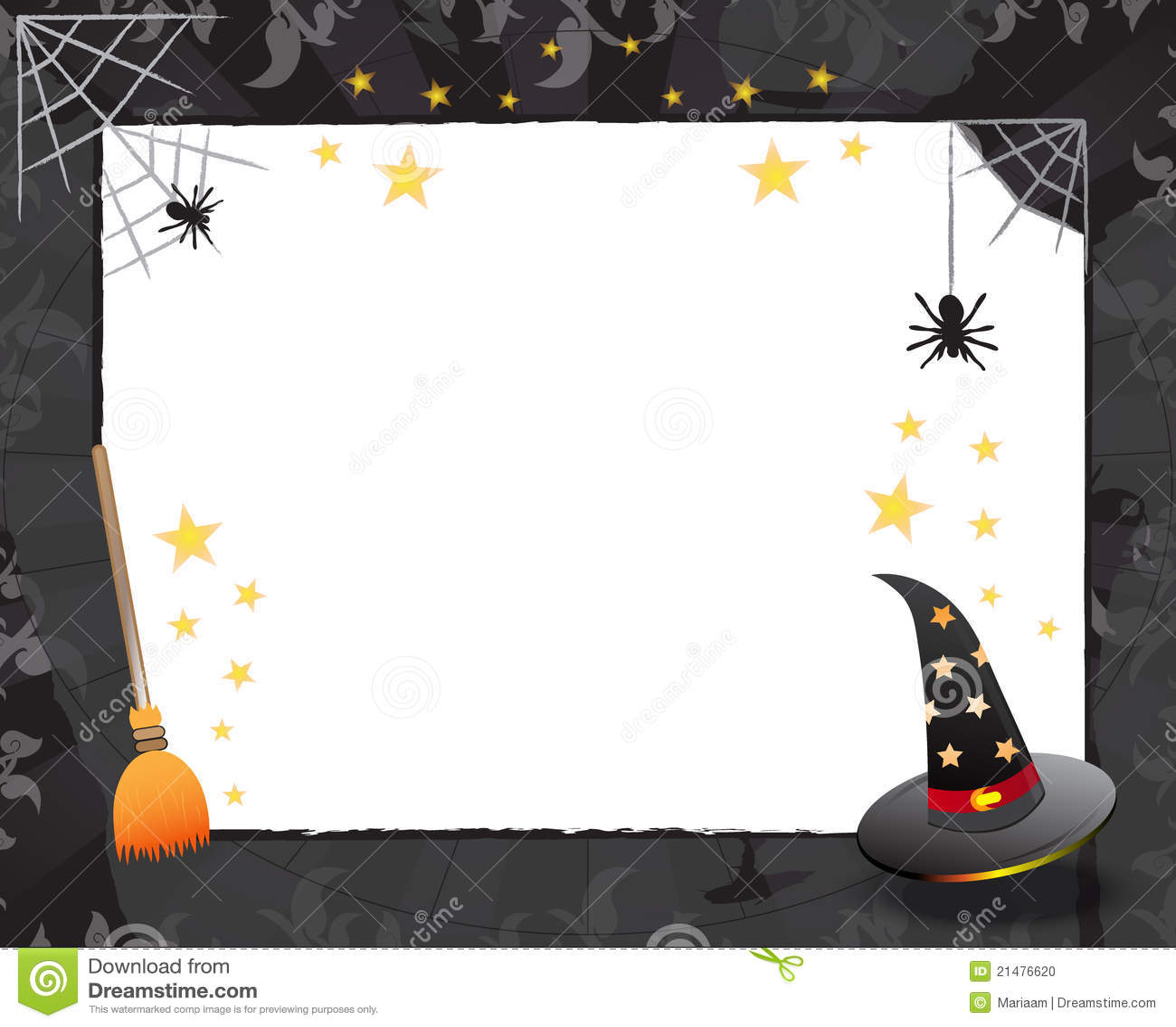 halloween frame design stock photo image 21476620 Flower Border Clip Art Page Border Designs