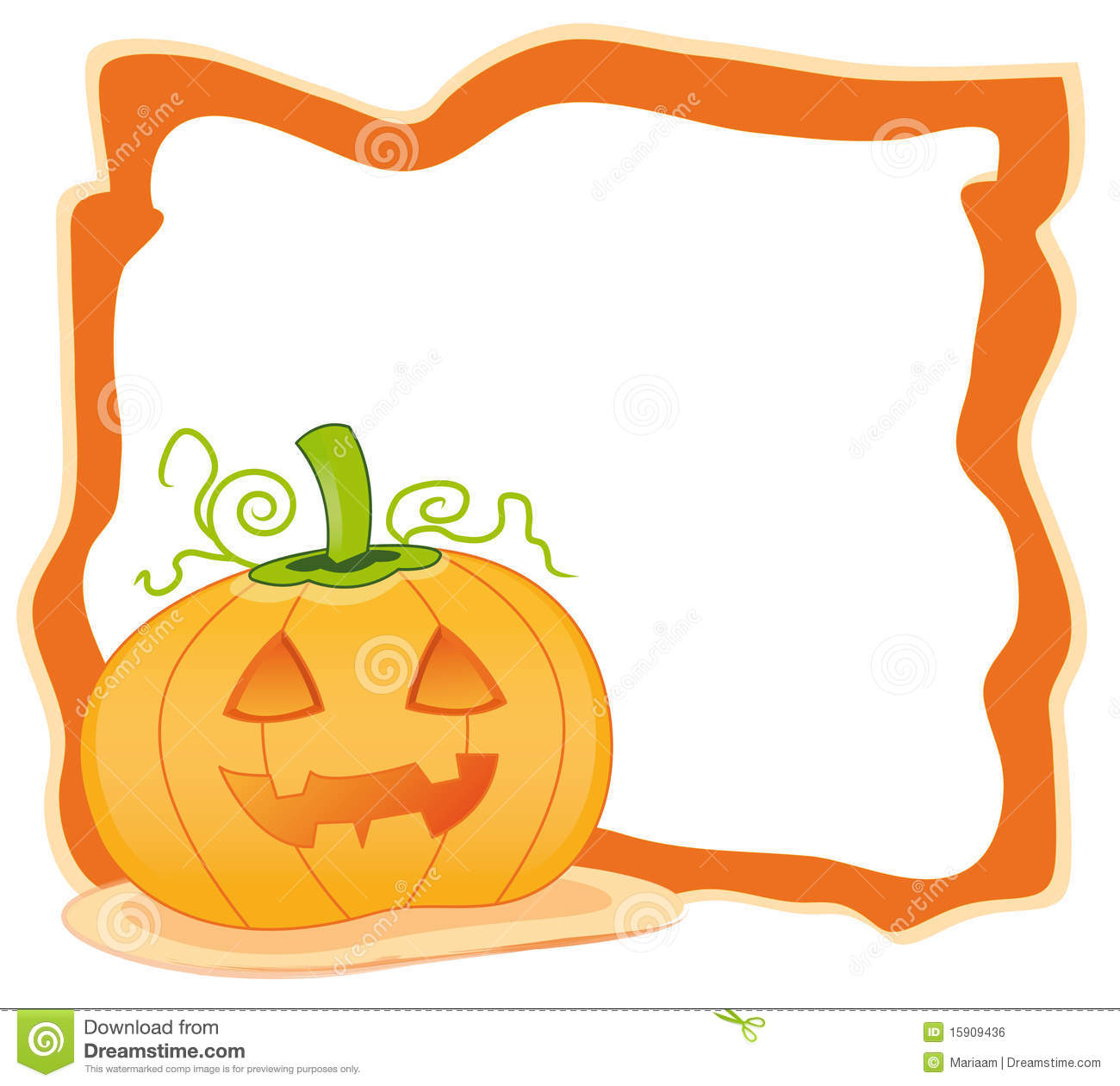 Pumpkin Frame stock vector. Illustration of growing, holidays - 2869476
