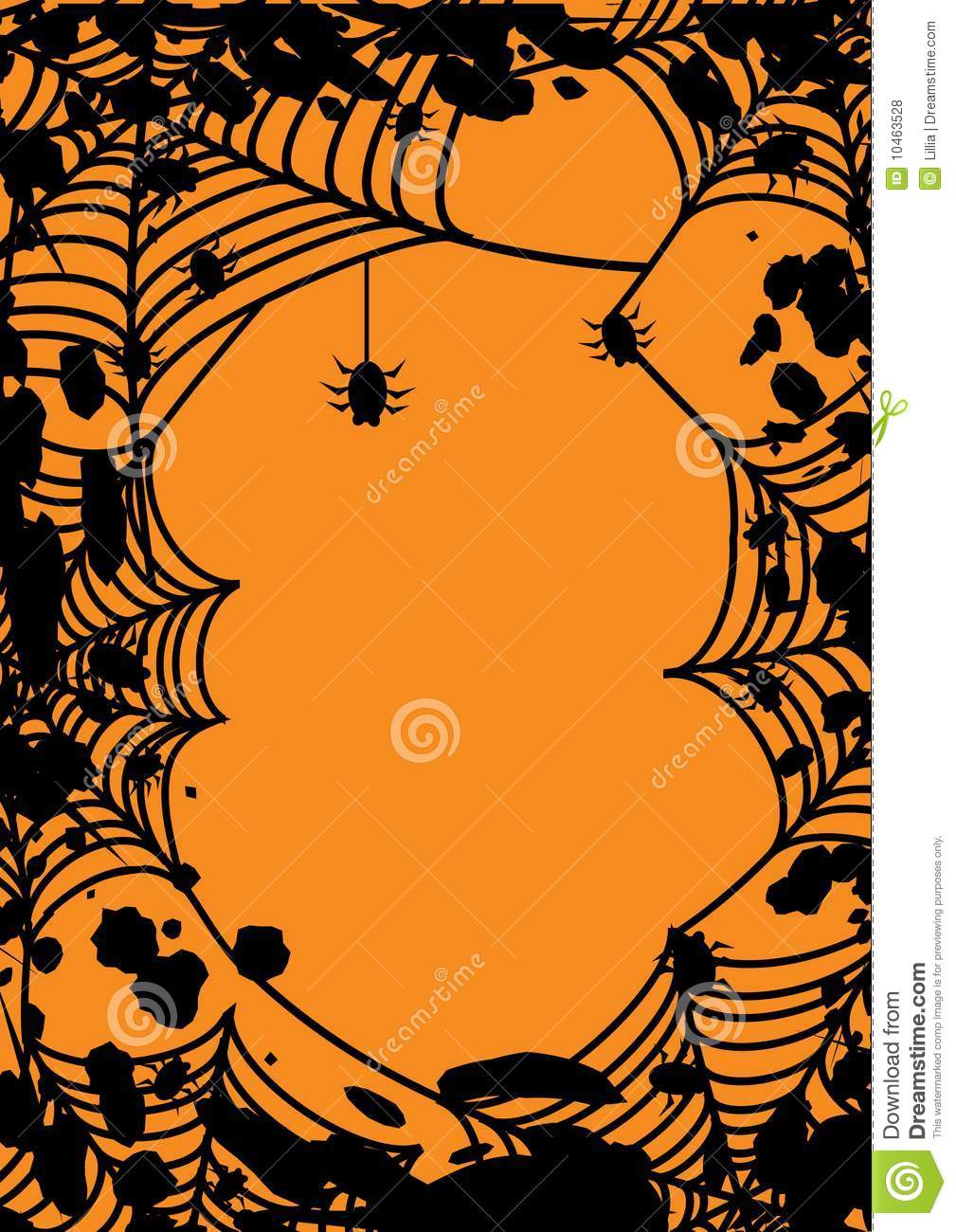 Halloween frame with spiders web stock vector illustration of halloween frame with spider s web jeuxipadfo Choice Image