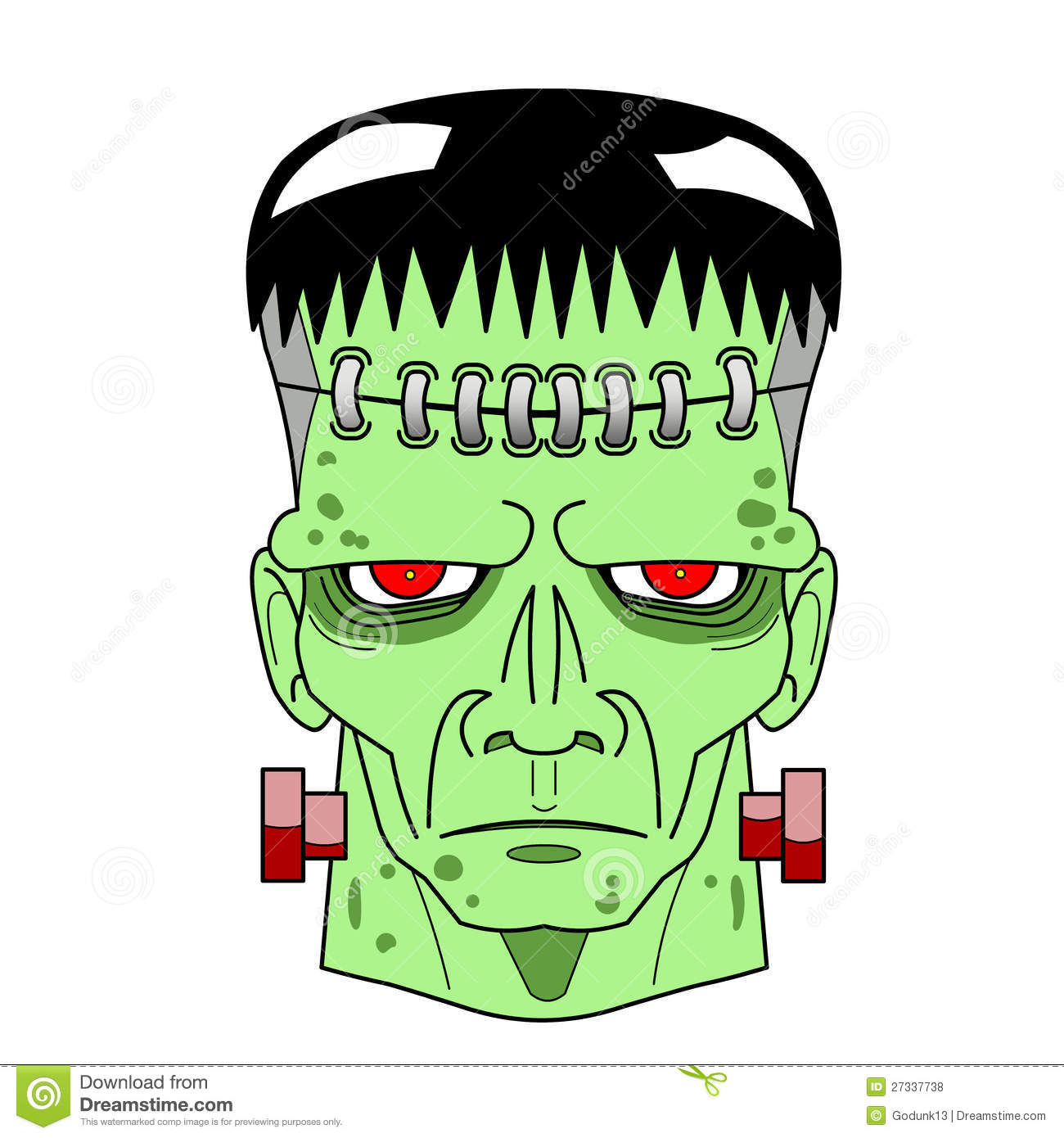 animated frankenstein head the image kid has it. Black Bedroom Furniture Sets. Home Design Ideas