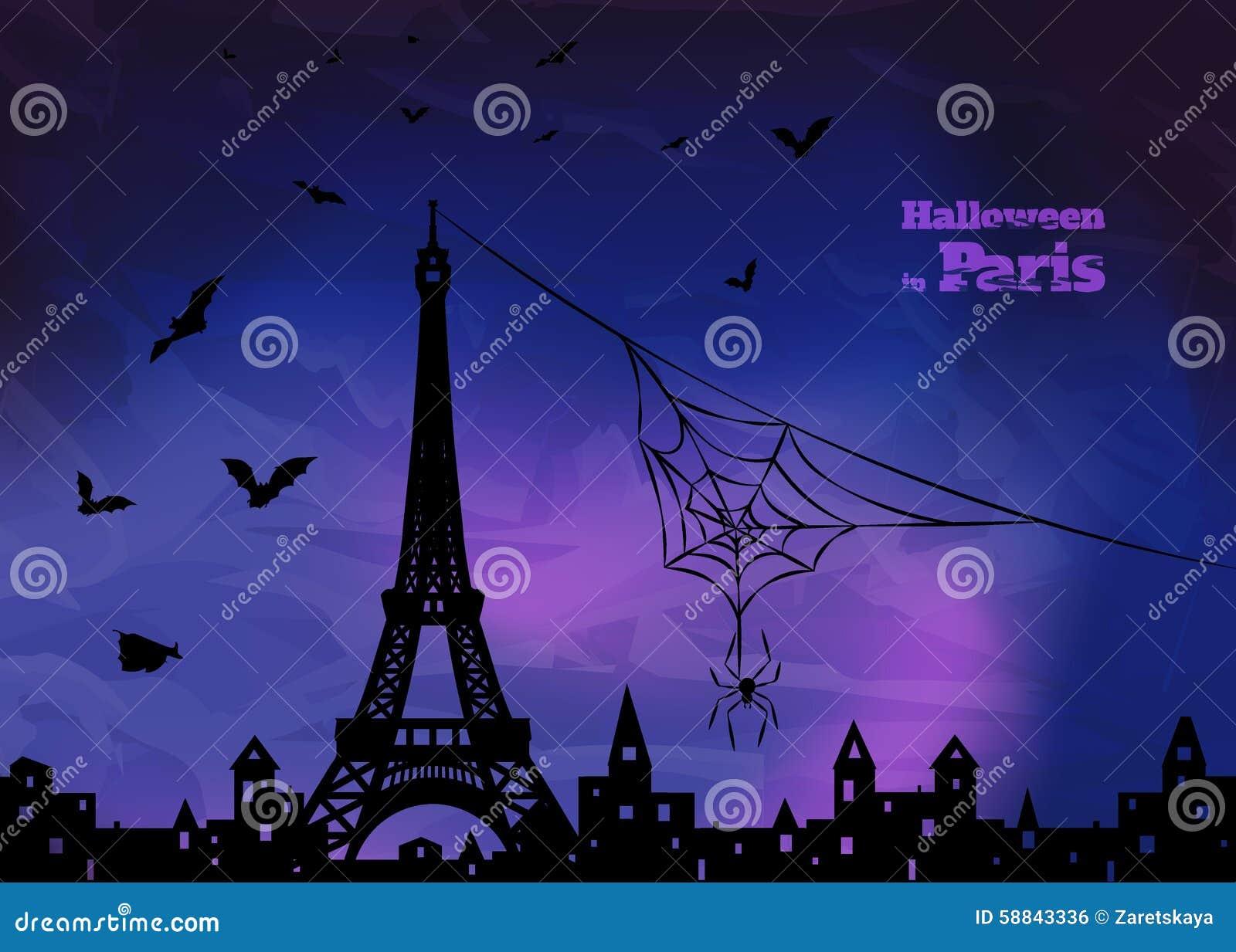 Halloween In Frankrijk.Halloween In Frankrijk Vector Illustratie Illustratie