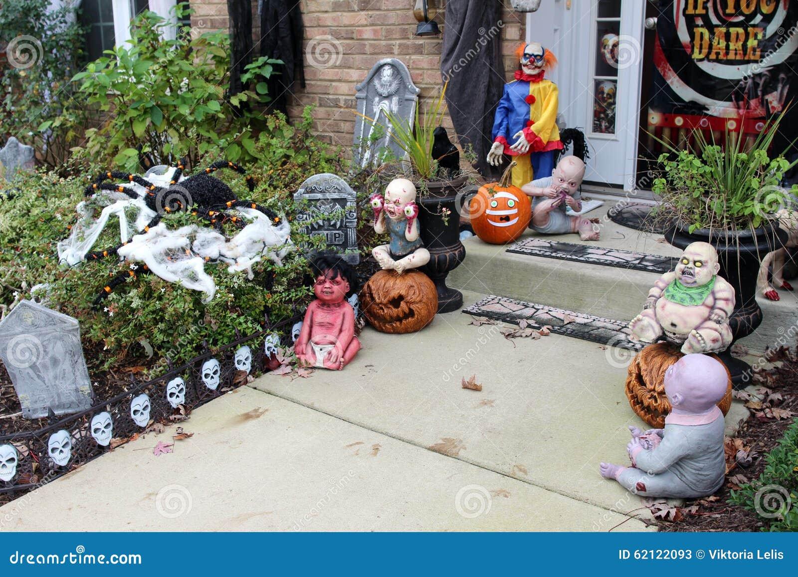 Halloween Front Door Decorations Stock Image Image Of Season