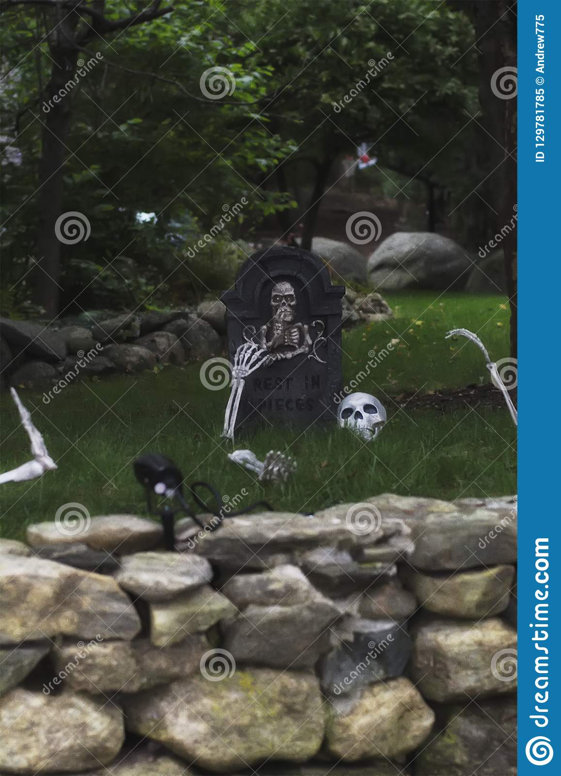 Halloween Front Yard Decorations Stock Image Image of lawn