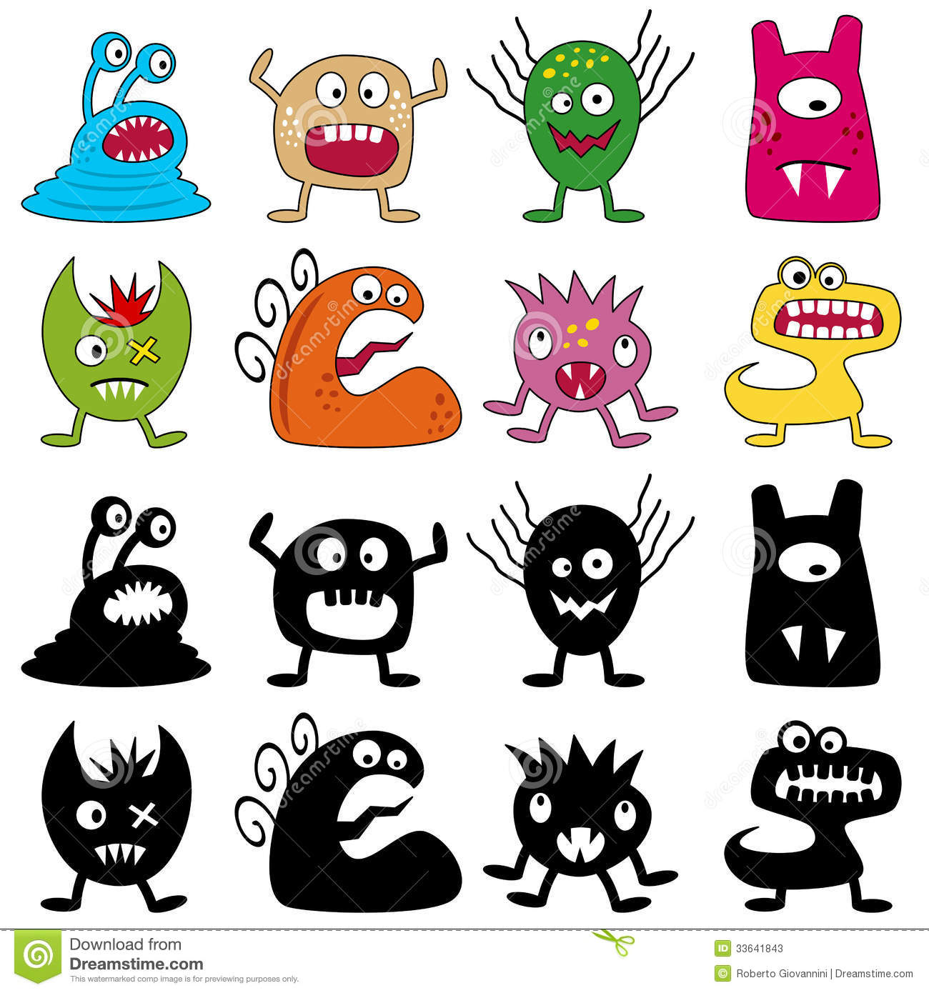 Halloween Monsters Royalty Free Stock Image - Image: 25384416