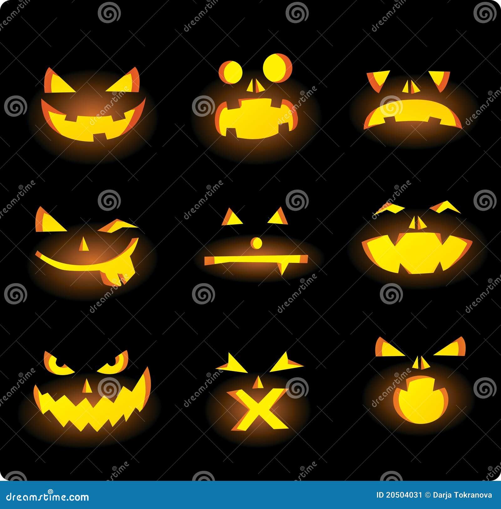 halloween gesichter stockbild bild 20504031. Black Bedroom Furniture Sets. Home Design Ideas