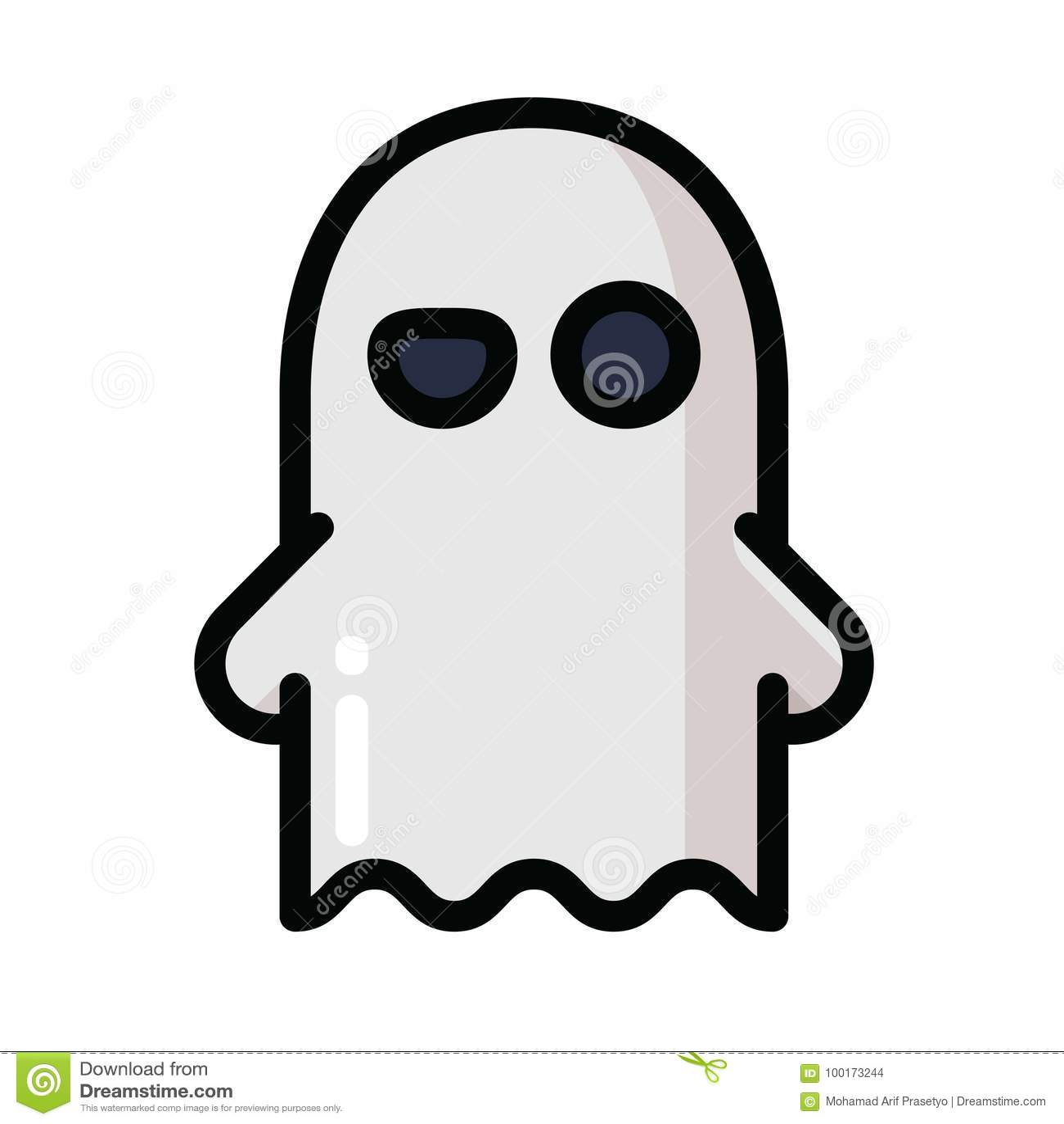 Halloween Ghost Icon stock vector. Illustration of creepy ...