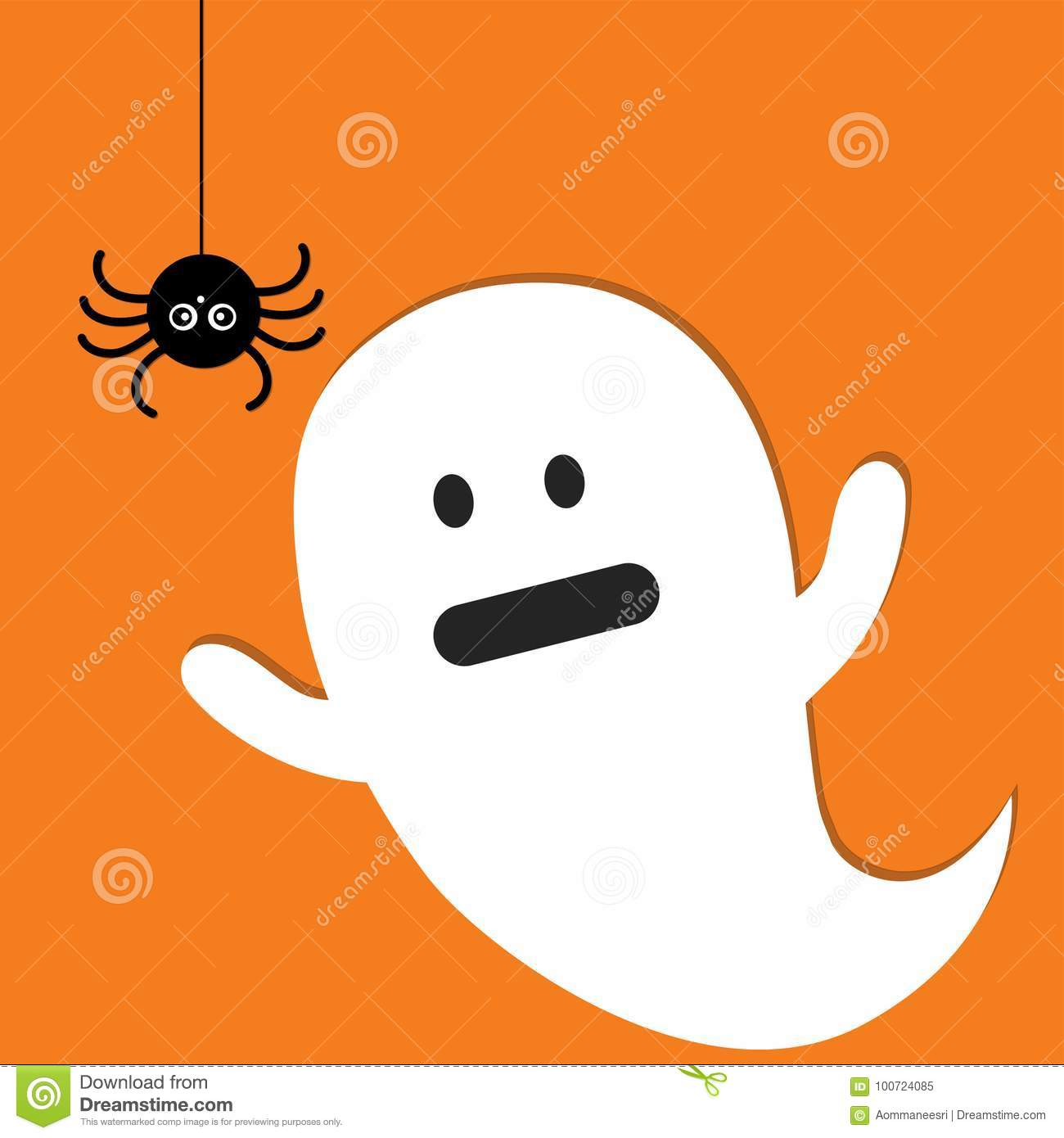 Halloween ghost icon stock vector. Illustration of holiday ...