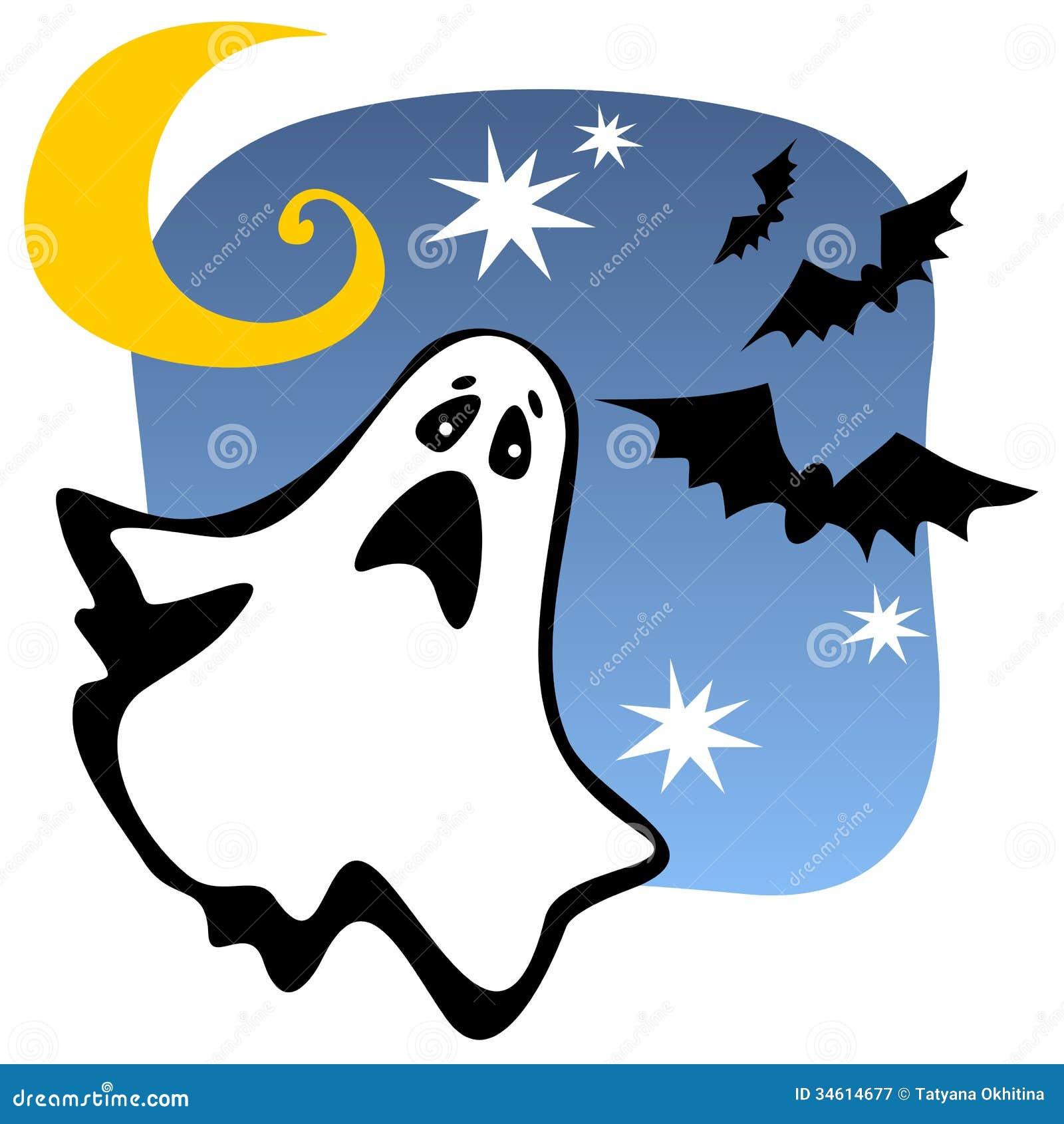 Halloween ghost stock vector. Illustration of seasonal - 34614677