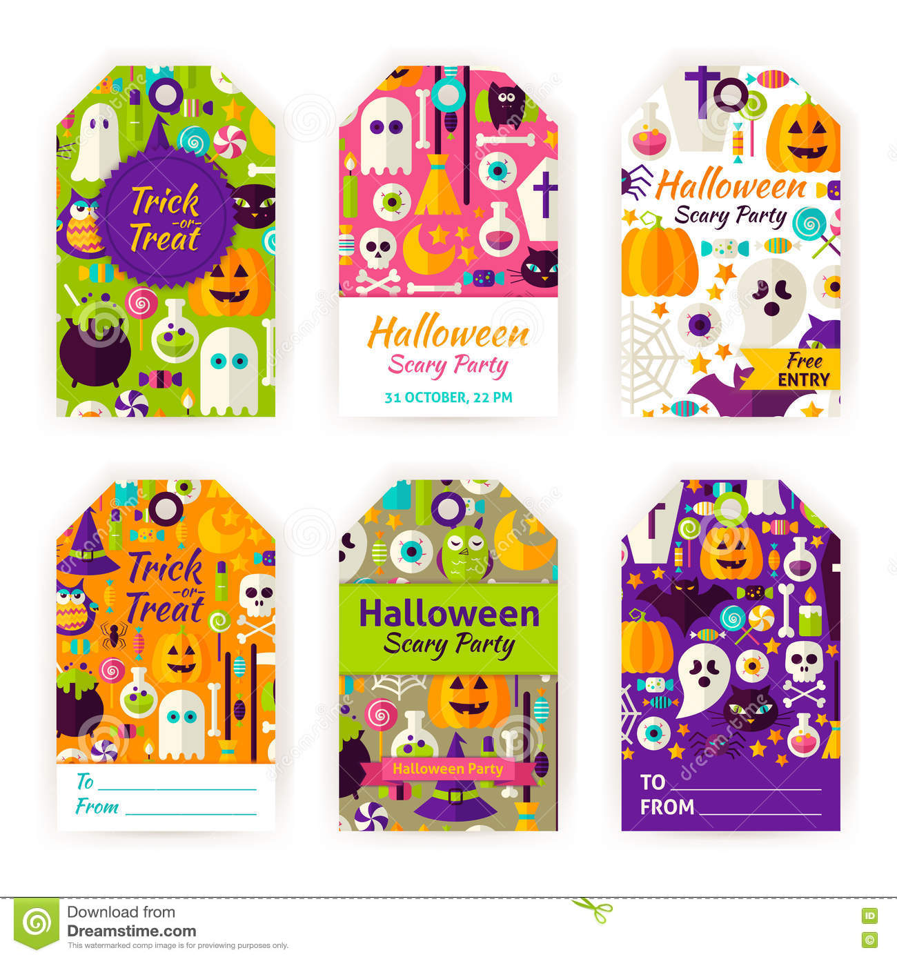 halloween gift tag labels stock vector illustration of commerce