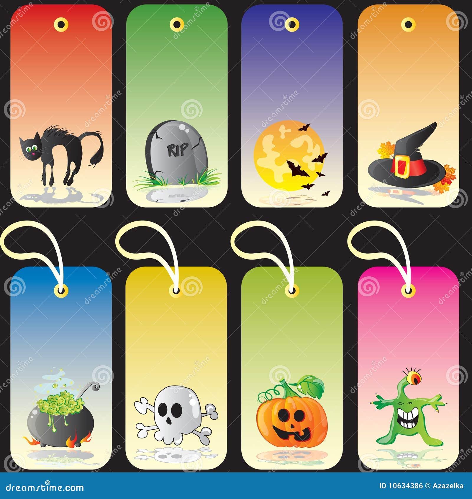 royalty free stock photo gift halloween - Halloween Gift Tag