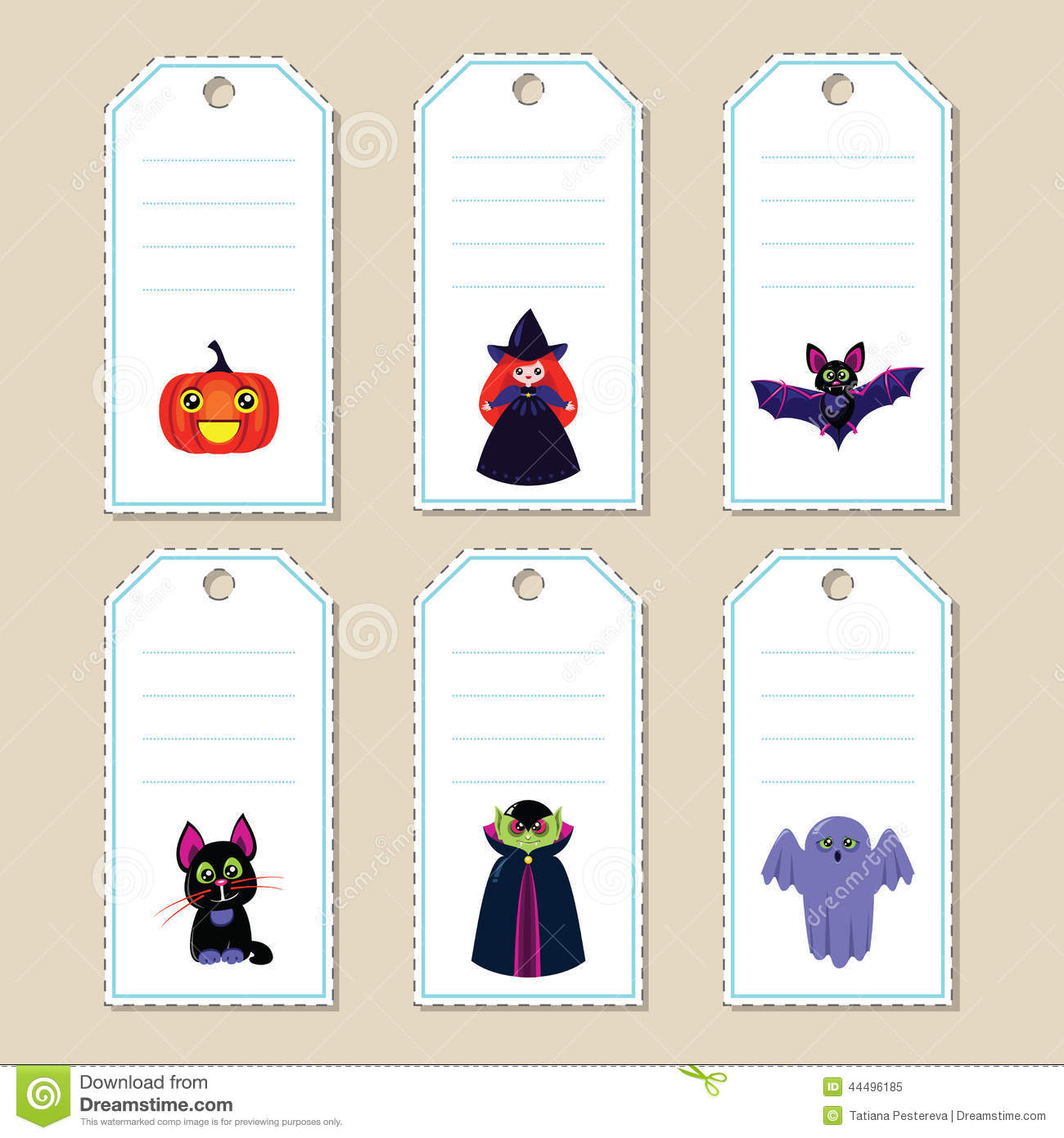 Halloween gift tags stock vector illustration of holiday 44496185 halloween gift tags royalty free vector negle Choice Image