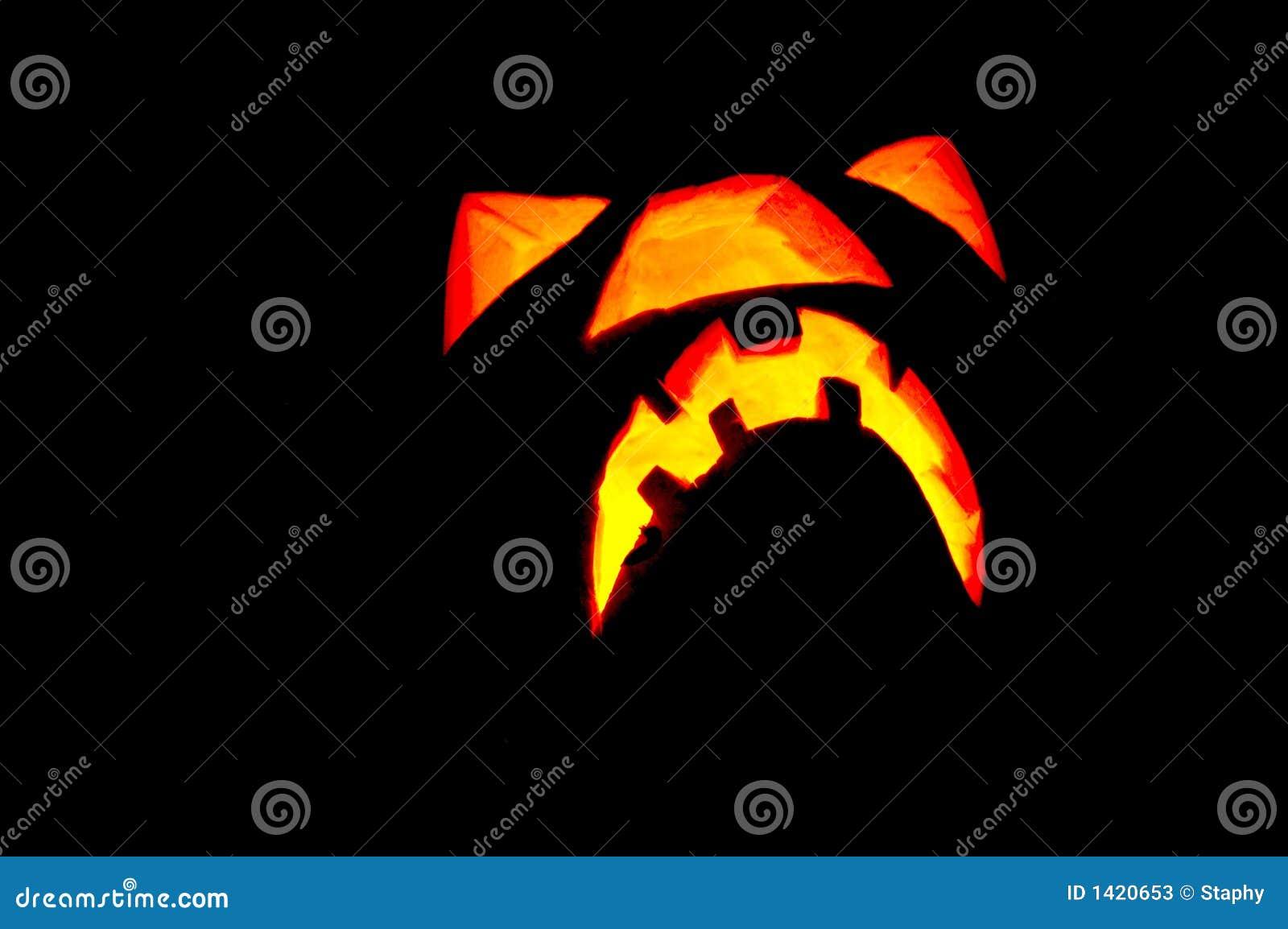 Halloween-glühendes Kürbisgesicht