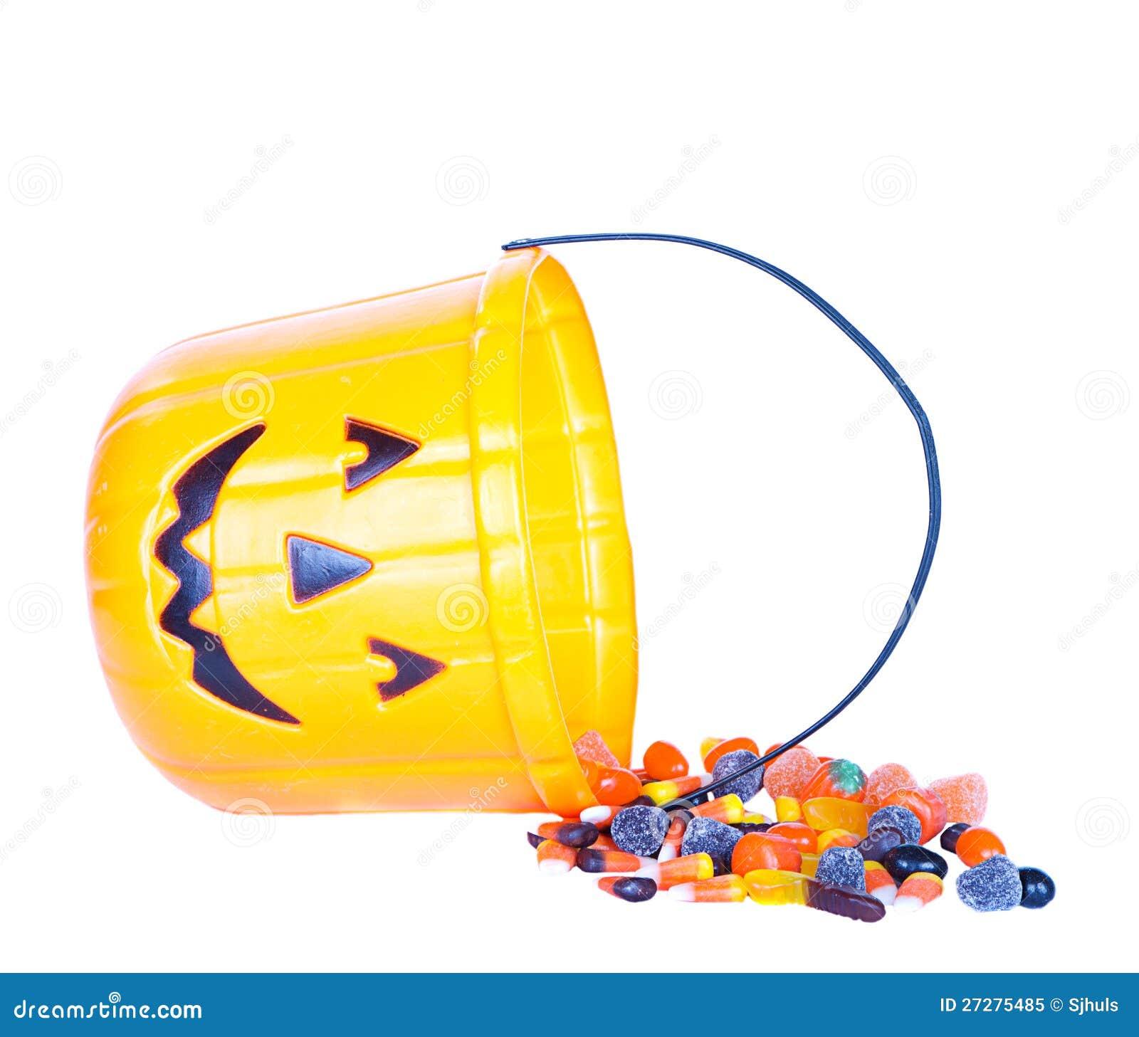 Halloween godis och pumpahink
