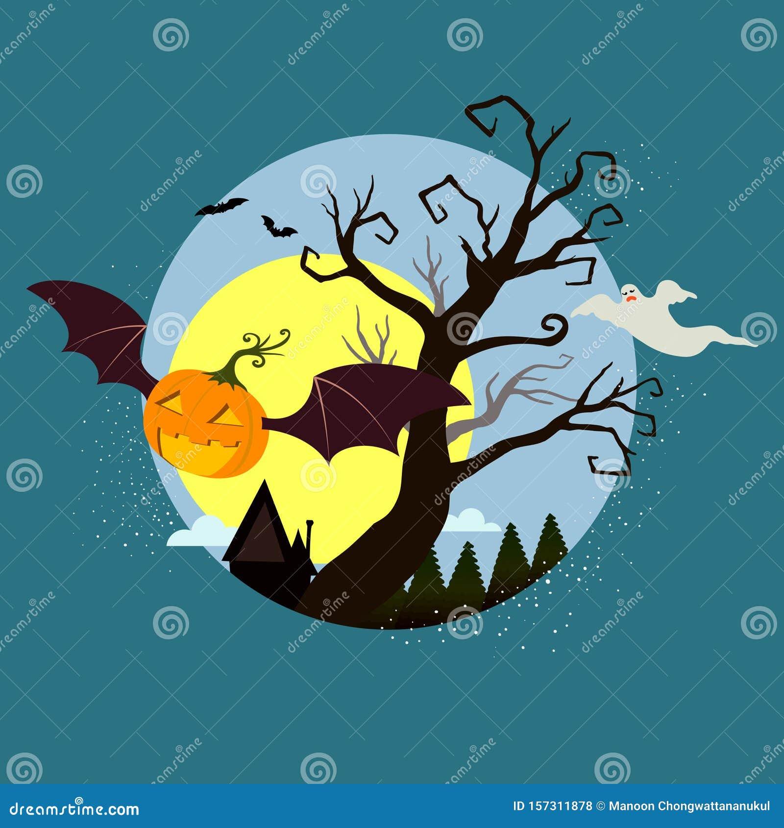 Halloween graphic design, illustration