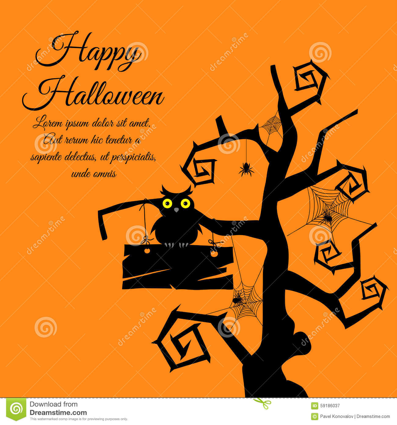 Halloween Greeting Card Stock Vector