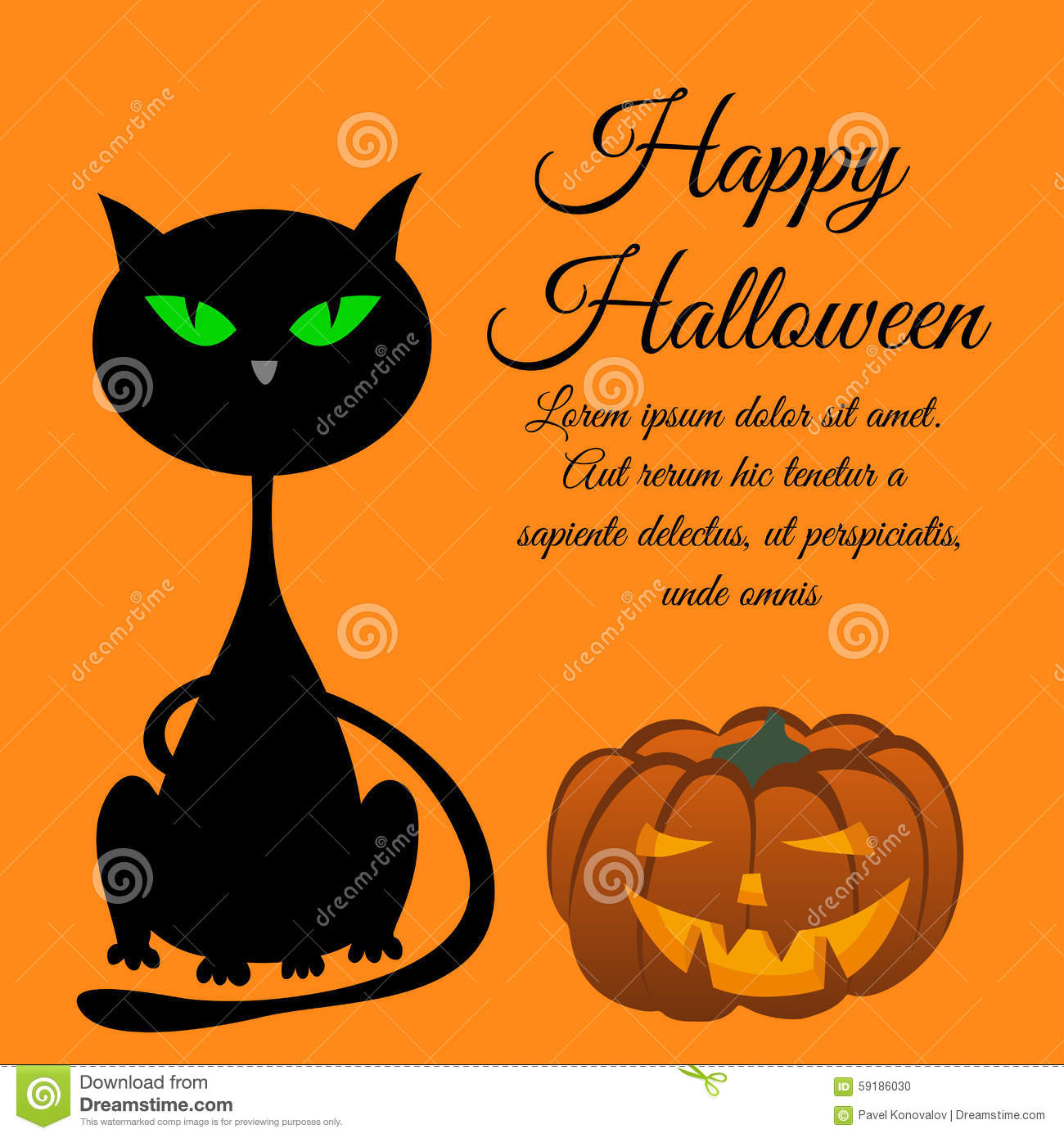 Halloween greeting card stock vector illustration of grunge halloween greeting card kristyandbryce Images
