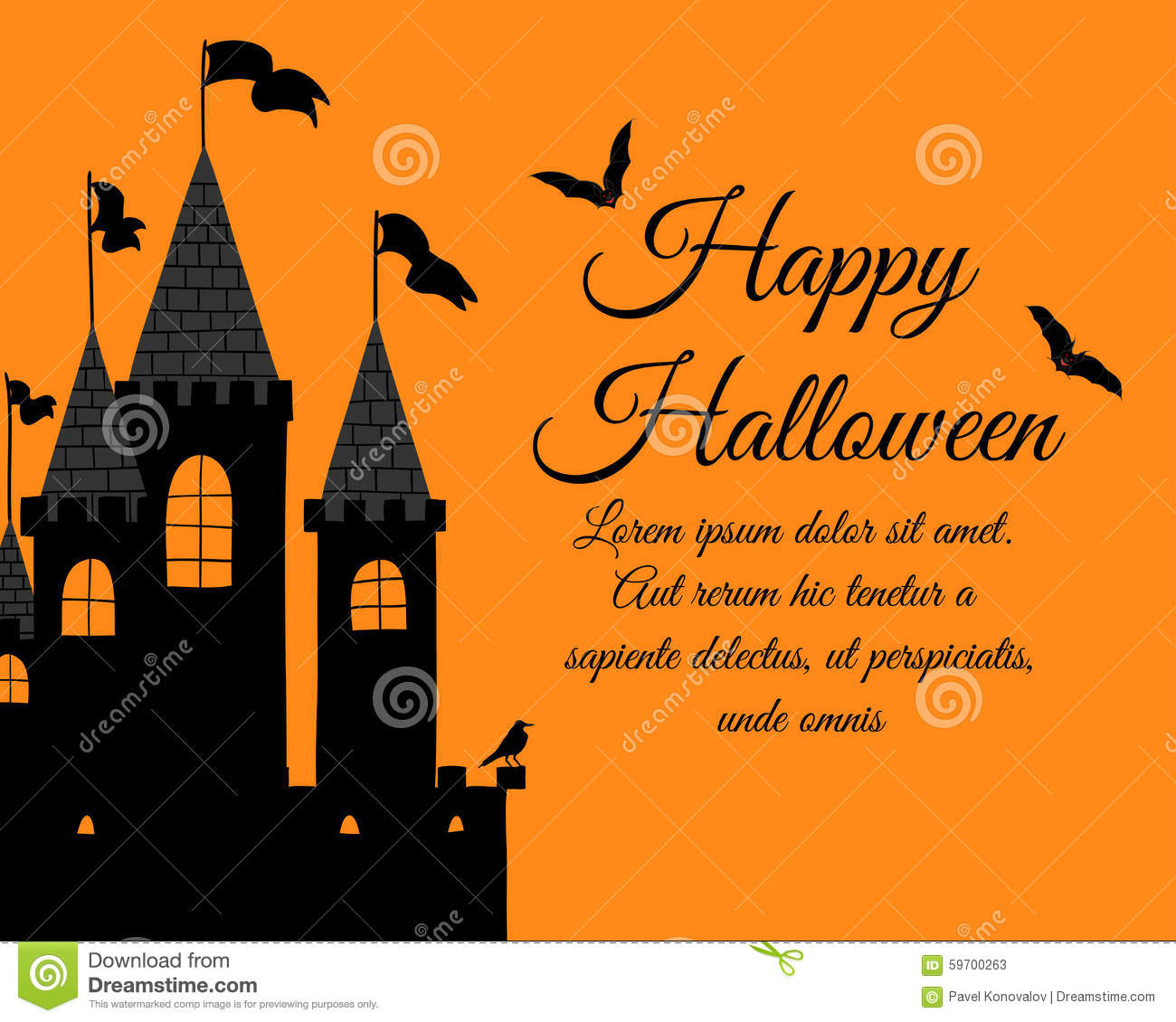 Halloween greeting card stock vector illustration of hand 59700263 halloween greeting card kristyandbryce Images
