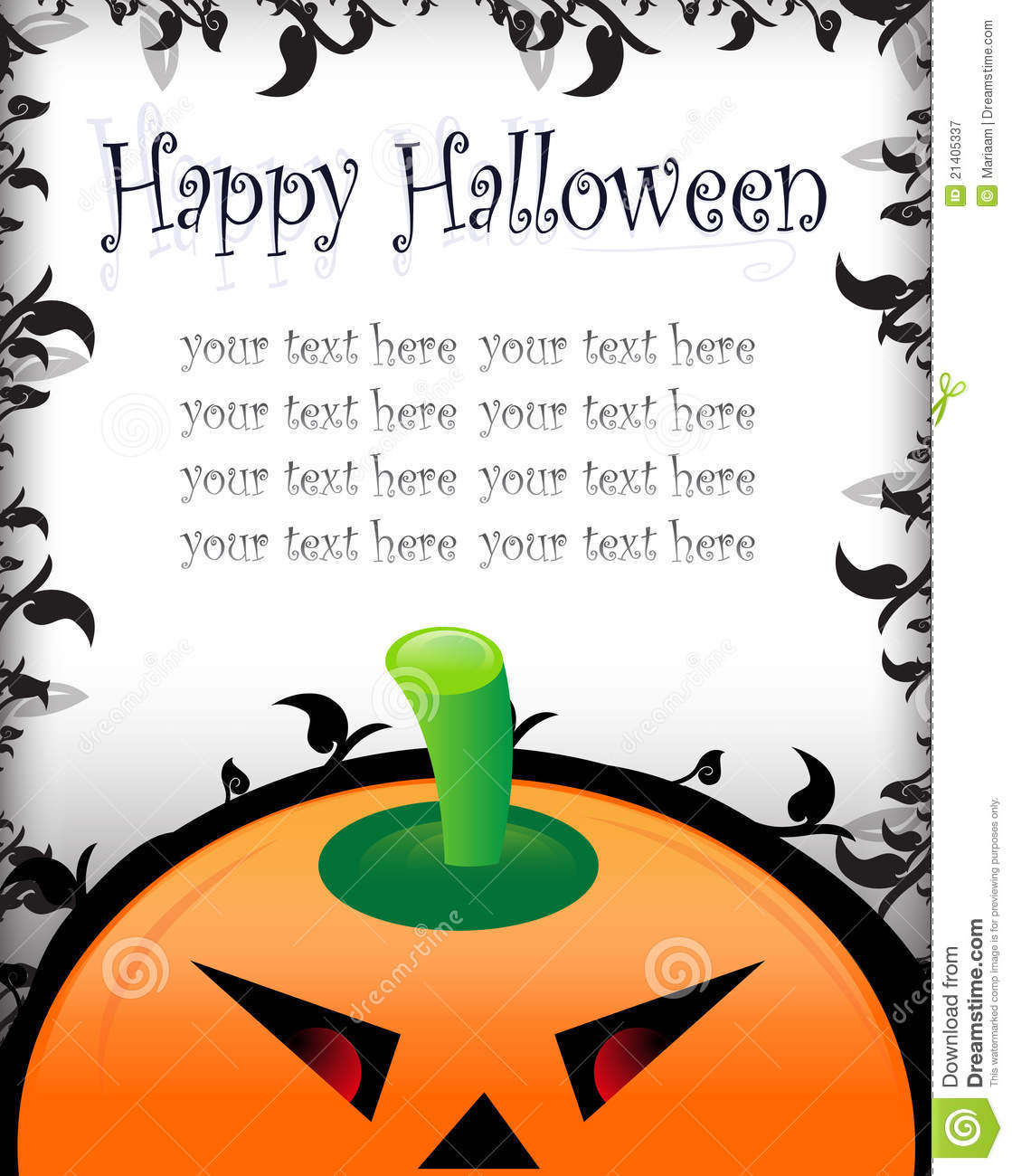 Halloween greetinginvitation card stock illustration halloween greetinginvitation card kristyandbryce Images