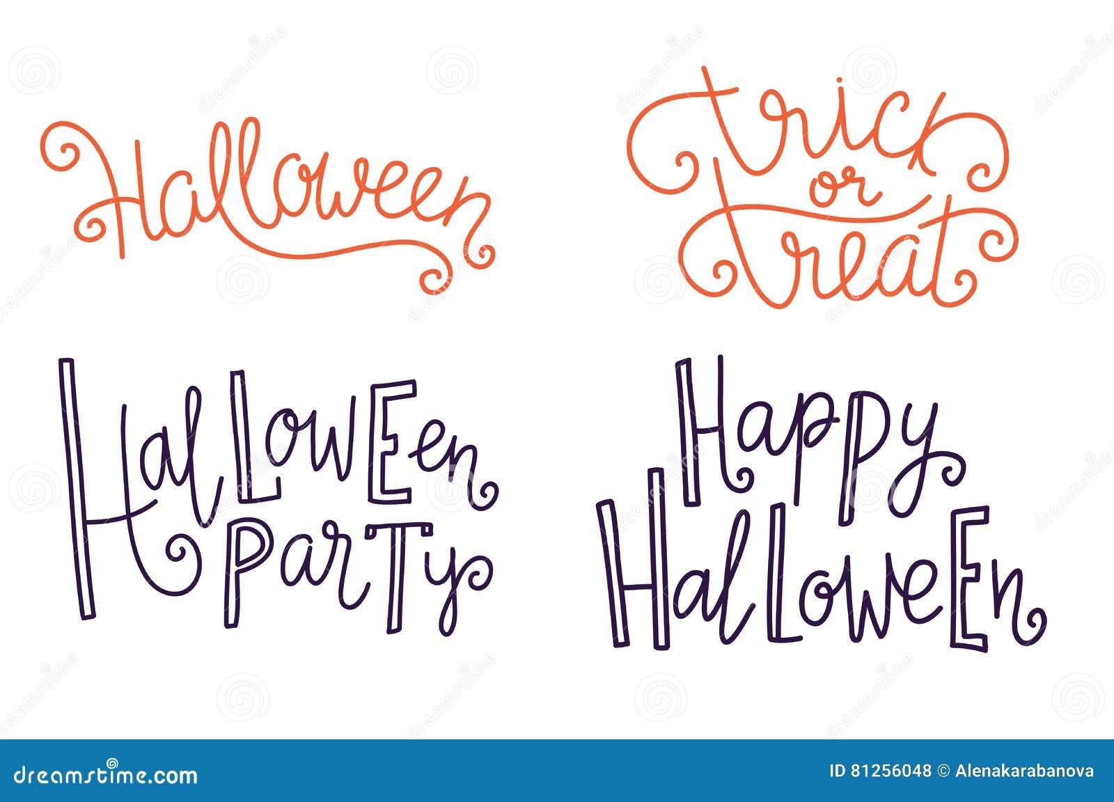Halloween Greeting Lettering Season Vector Holiday Design Of