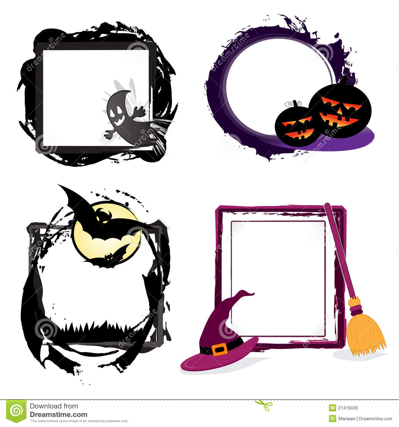 Halloween grunge frames stock illustration illustration of spooky halloween grunge frames jeuxipadfo Choice Image