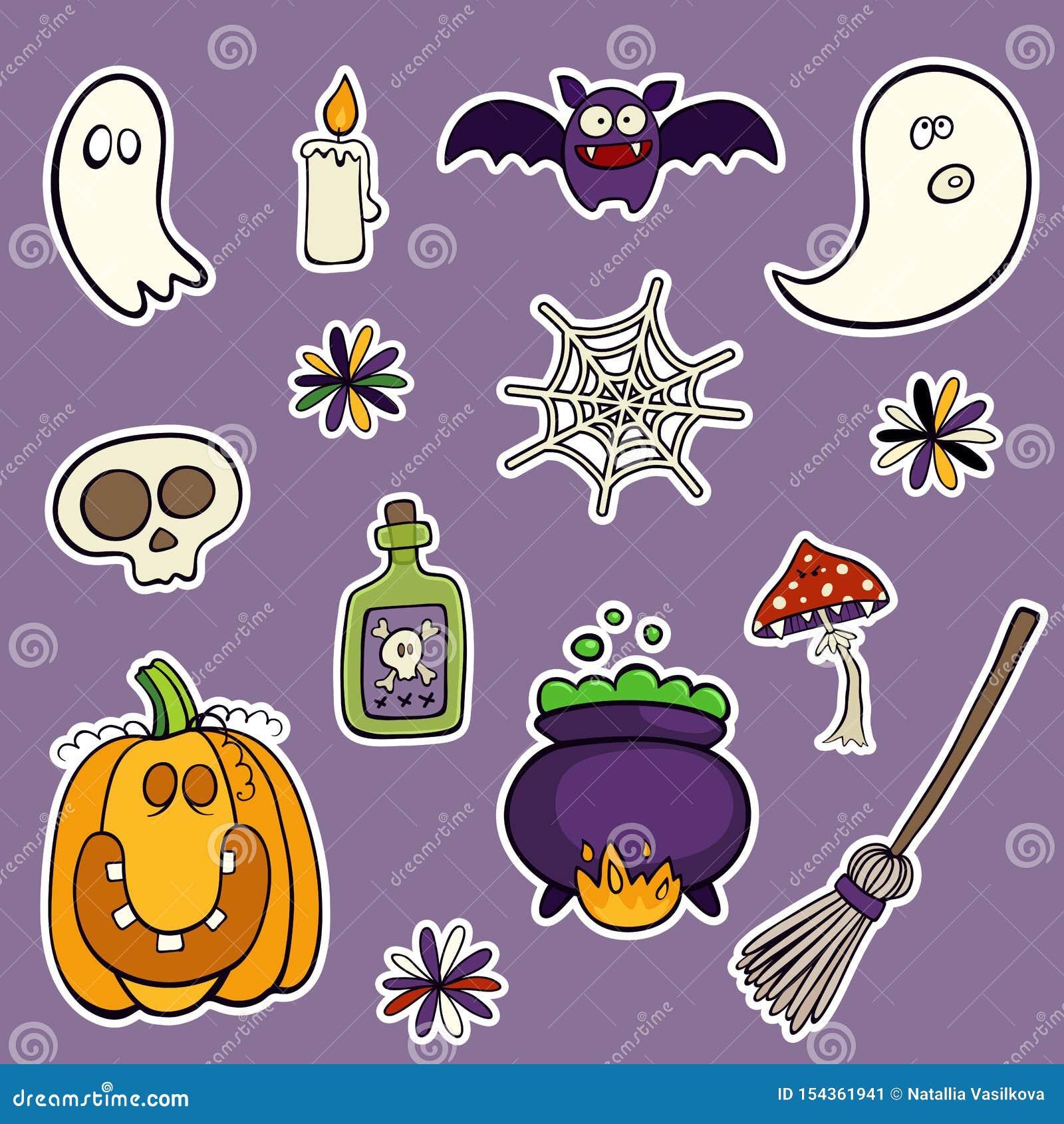 Halloween ha messo delle toppe con la zucca, il cranio, il fungo ed altri elementi