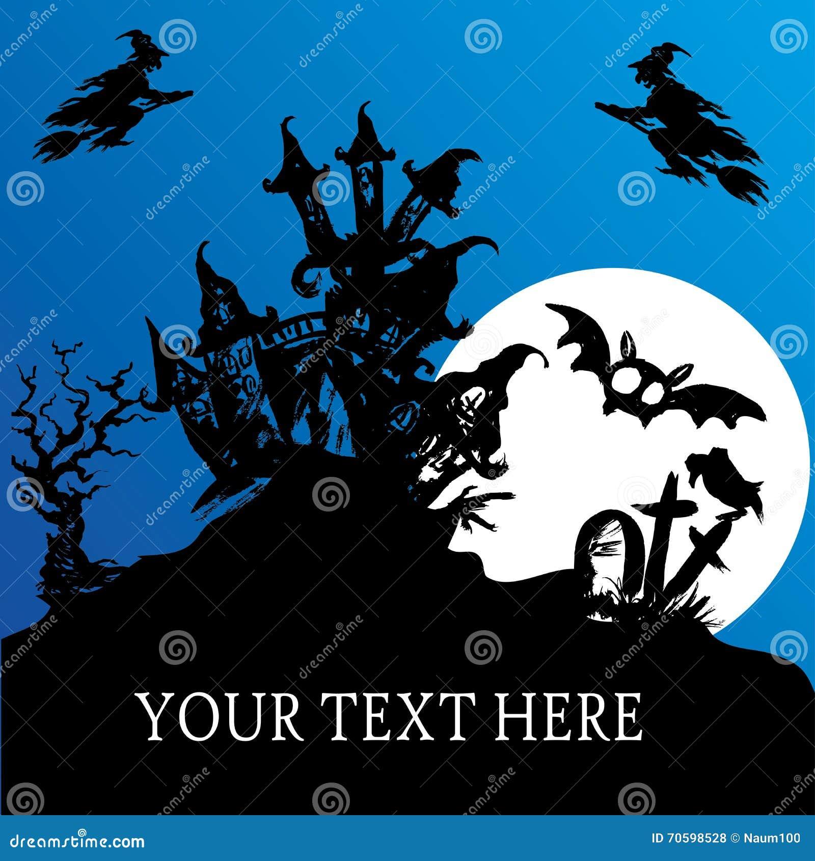 Halloween Haunted House Stock Vector - Image: 70598528