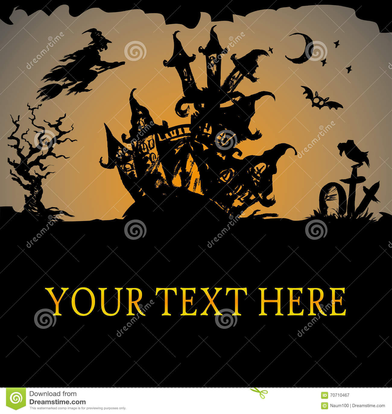Halloween Haunted House Stock Vector - Image: 70710467
