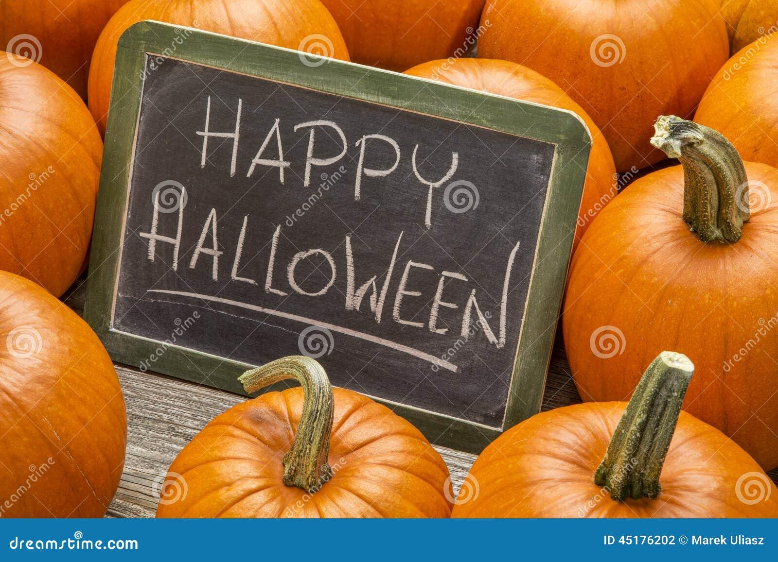 Halloween heureux avec le potiron