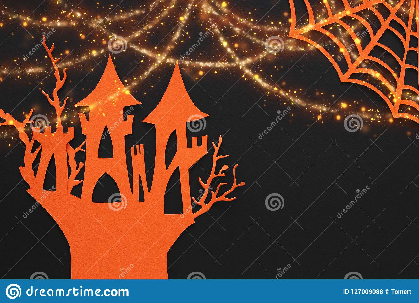 Superb Halloween Holiday Concept Haunted Witch House Over Black Download Free Architecture Designs Rallybritishbridgeorg