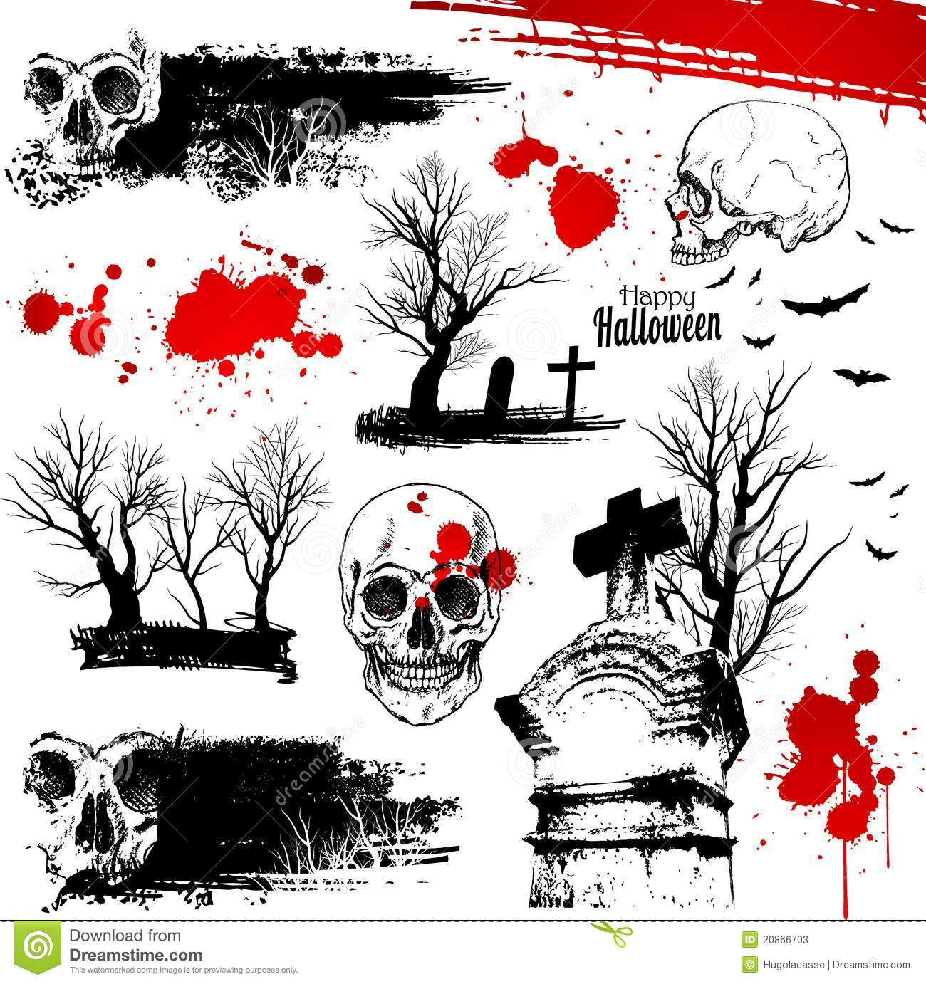 halloween horror elements stock photos image 20866703 tombstone shape vector realistic tombstone vector
