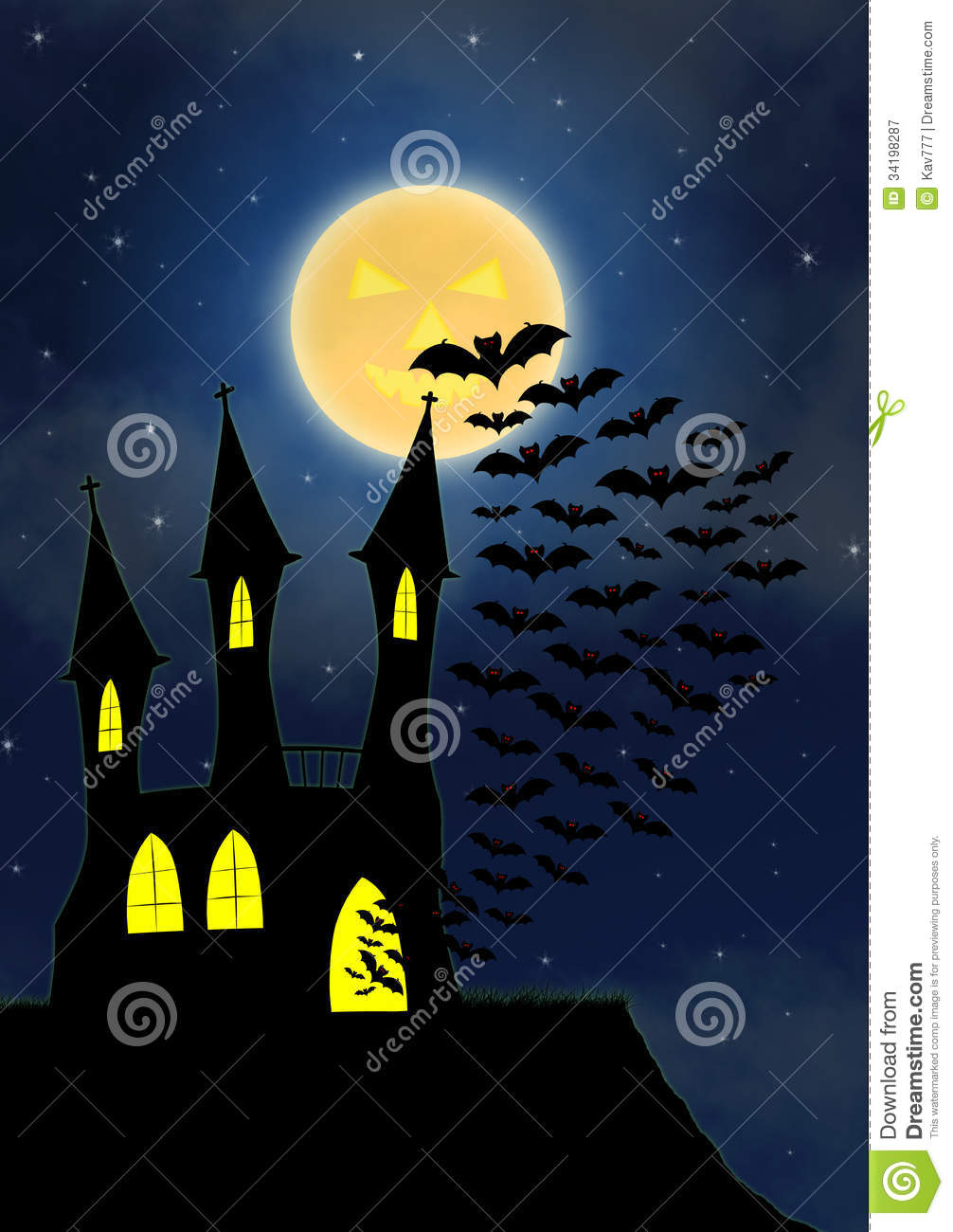 Halloween House Party Full Moon Royalty Free Stock Photography ...