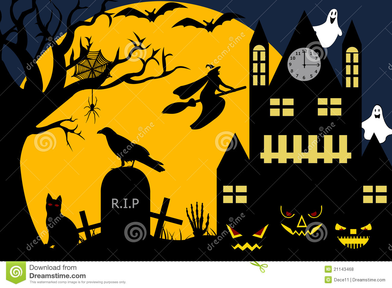 Halloween Illustration Royalty Free Stock Photos Image