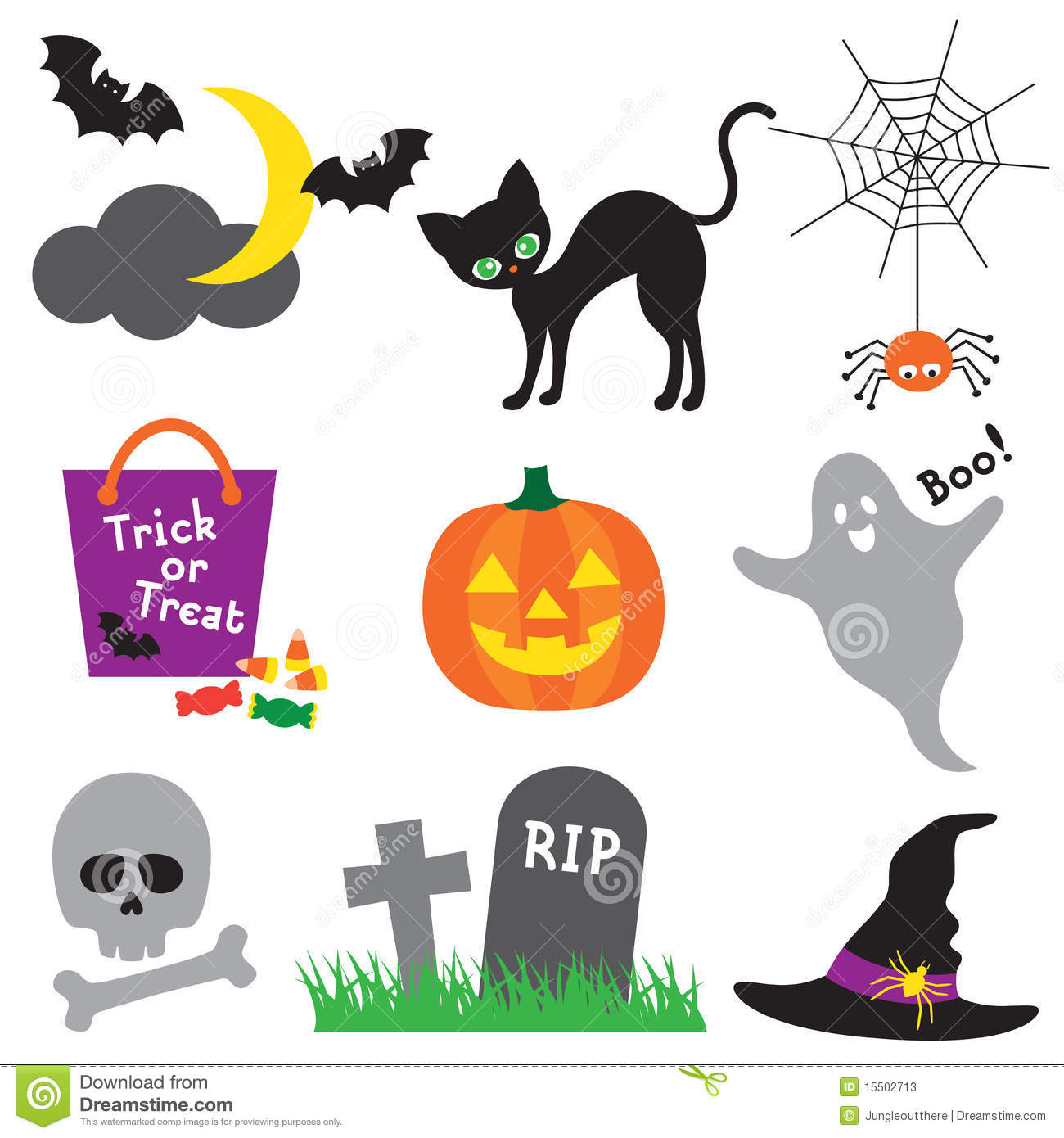Halloween Illustration Set Stock Photos - Image: 15502713