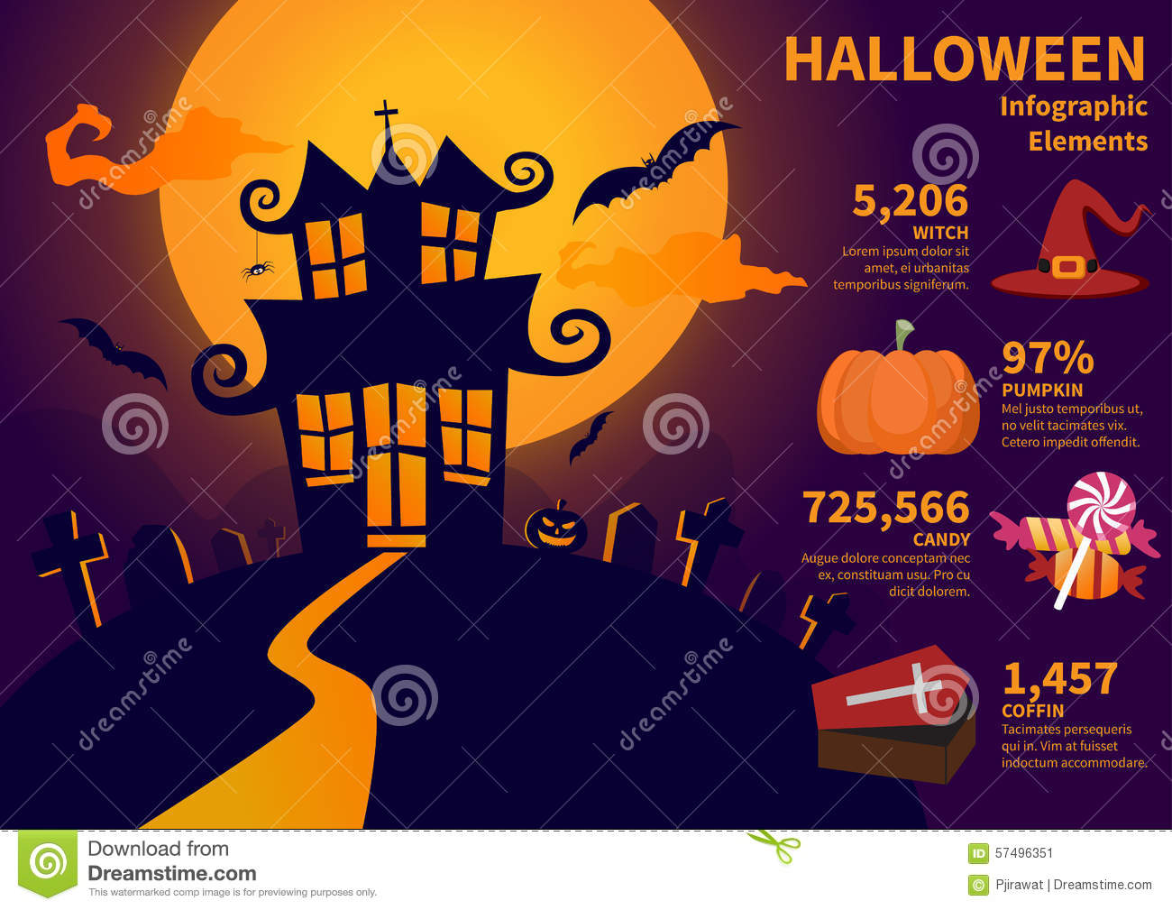 Halloween web design elements templates logos and photos