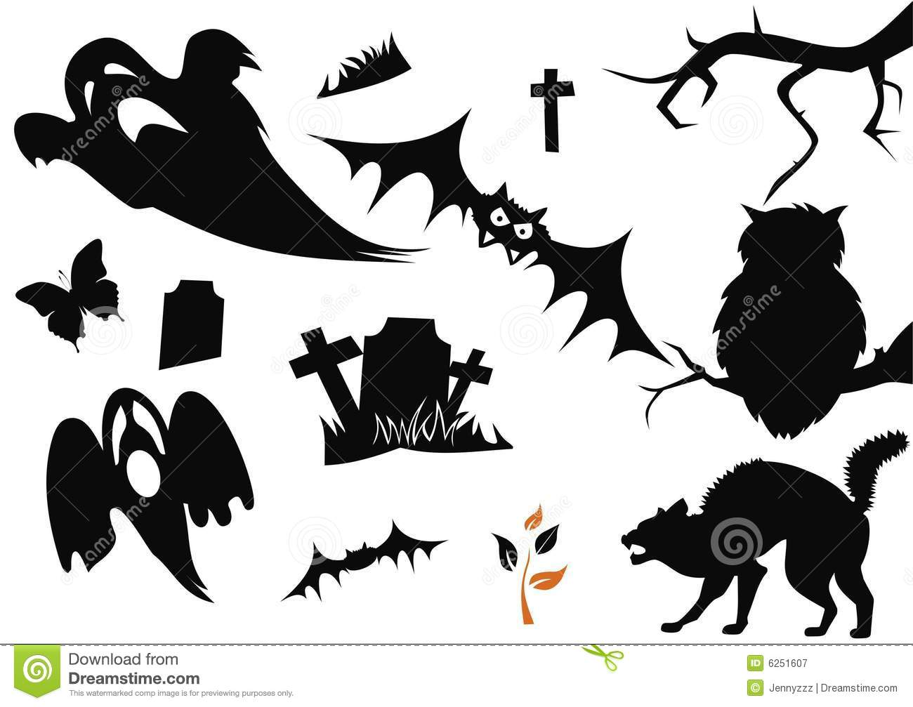 Halloween symbols stock vector illustration of cross 5983885 halloween items royalty free stock photography biocorpaavc Choice Image