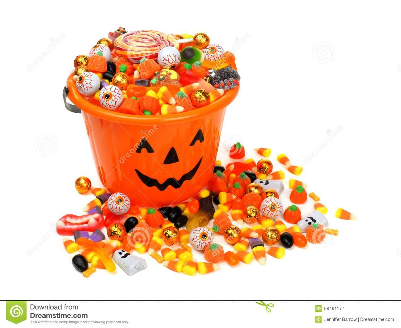 halloween jack o lantern pail overflowing with candy stock candy corn clip art1 candy corn clipart black and white
