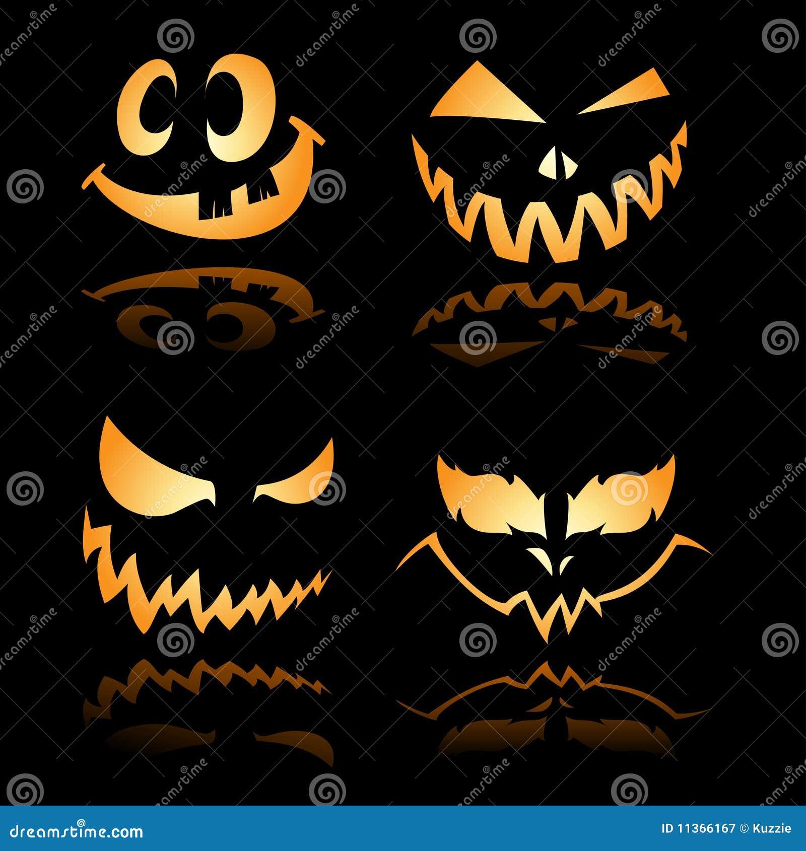 halloween jack o lantern smiles and grin 2 royalty free stock
