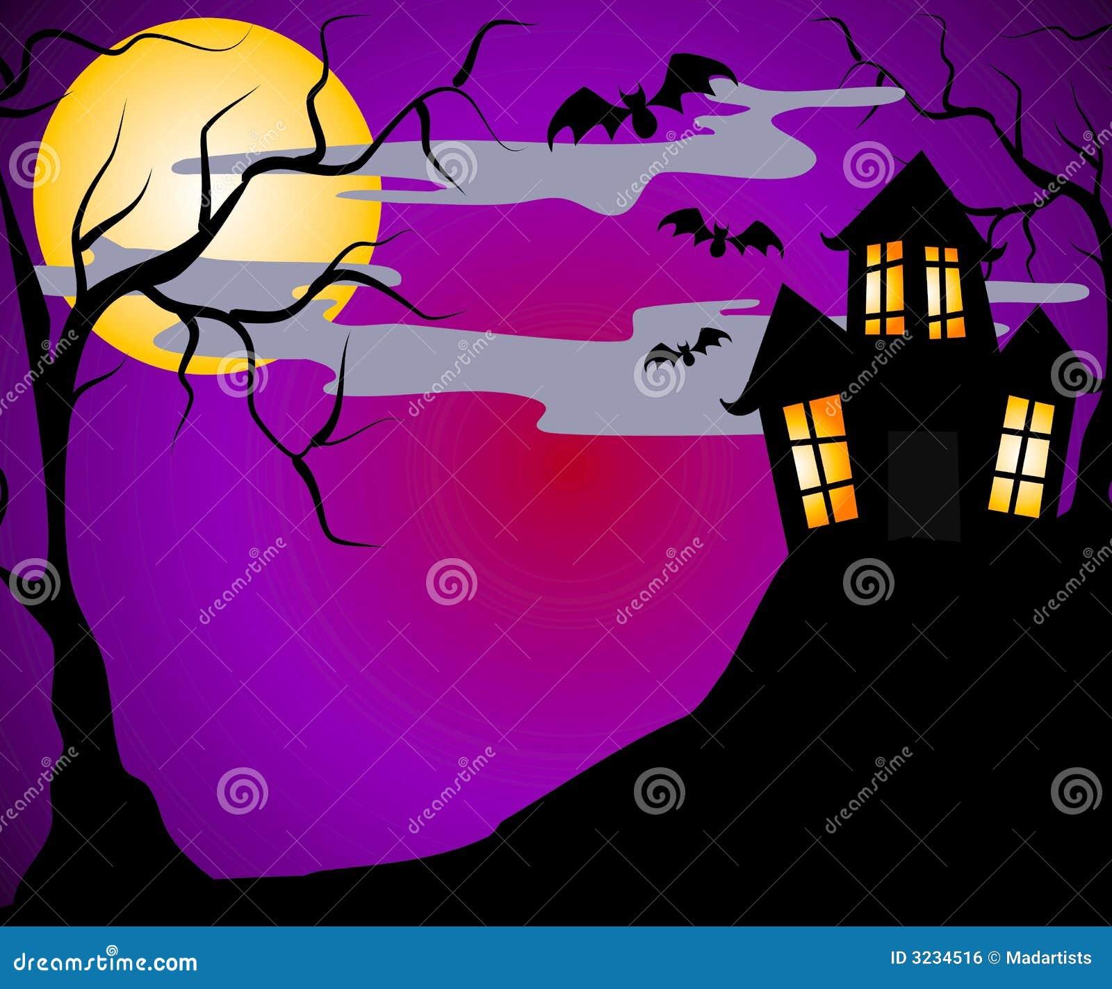 Halloween jest nawiedzone dom