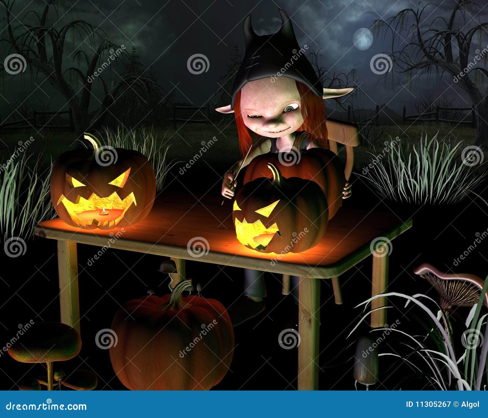Halloween-Kürbis-Laternen - mit backgrou schnitzen