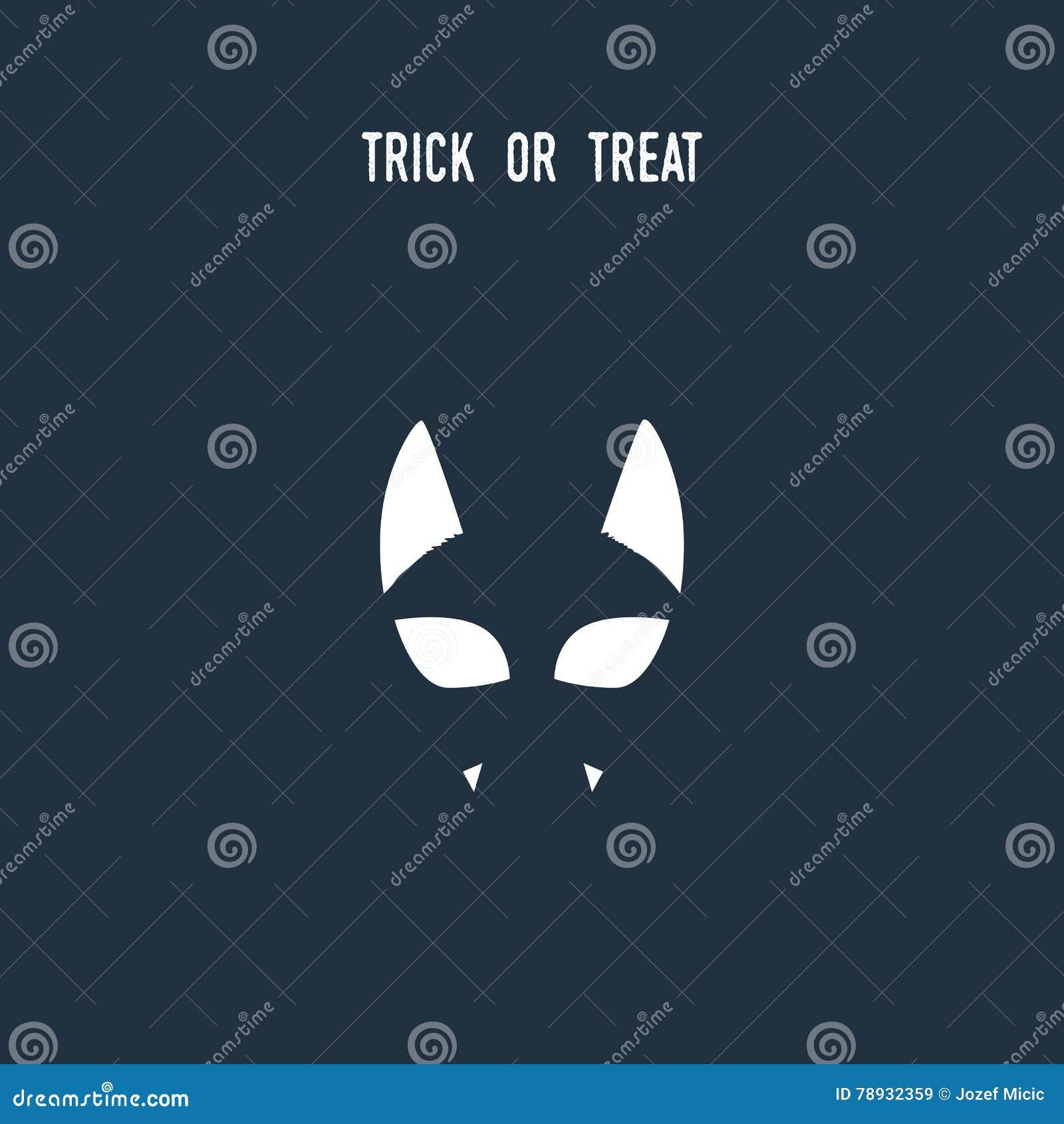 Halloween Gebruiken.Halloween Kattensymbool Die Negatief Ruimtesilhouet