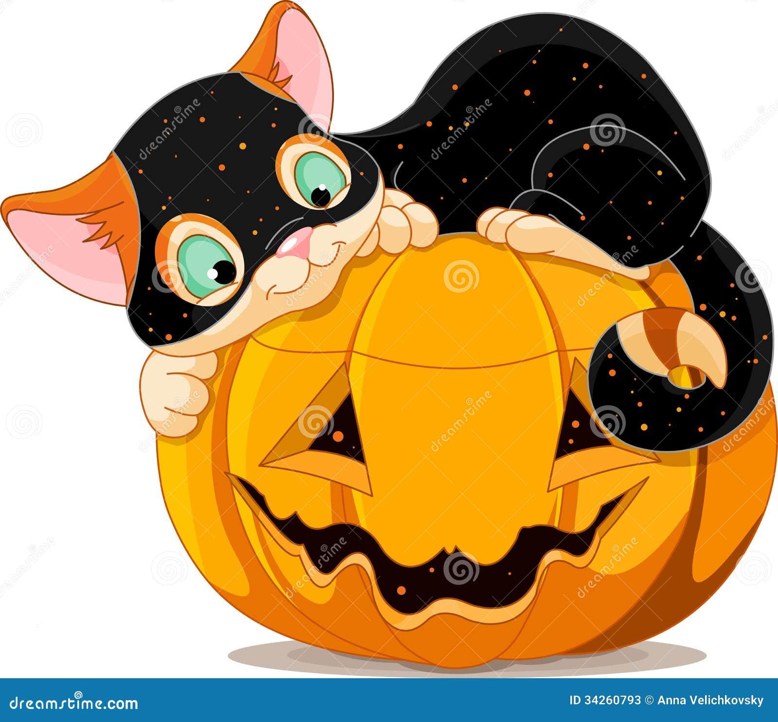 Cute Halloween Decorations Pinterest: Halloween Kitten Stock Vector. Illustration Of Domestic