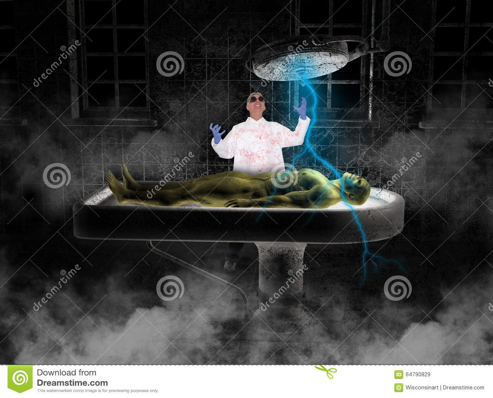 Halloween Mad Scientist Frankenstein Monster