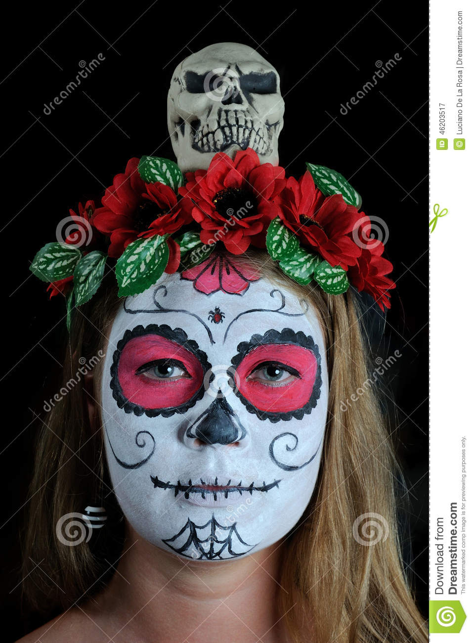Halloween Make Up Mexican Mask Stock Image - Image of ...