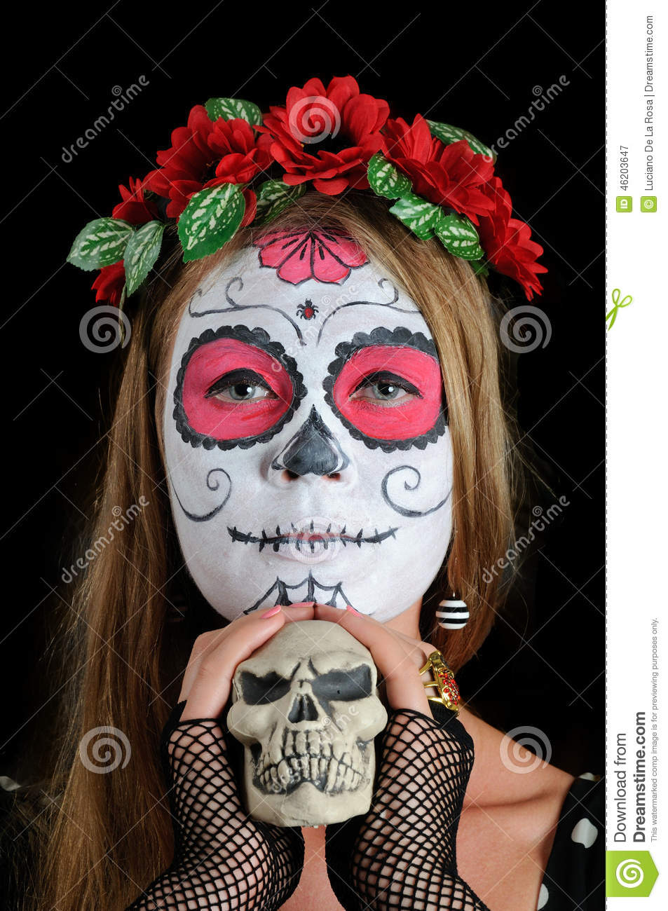 Halloween Make Up Mexican Mask Stock Photo - Image: 46203647