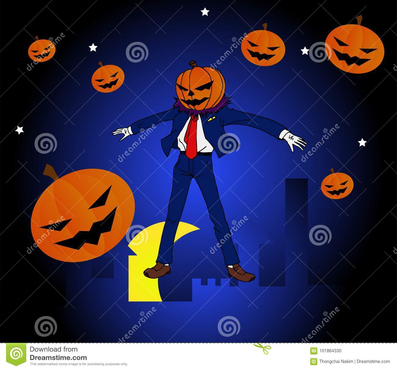 Halloween Maan.Halloween Man Super Hero Stock Vector Illustration Of Dark